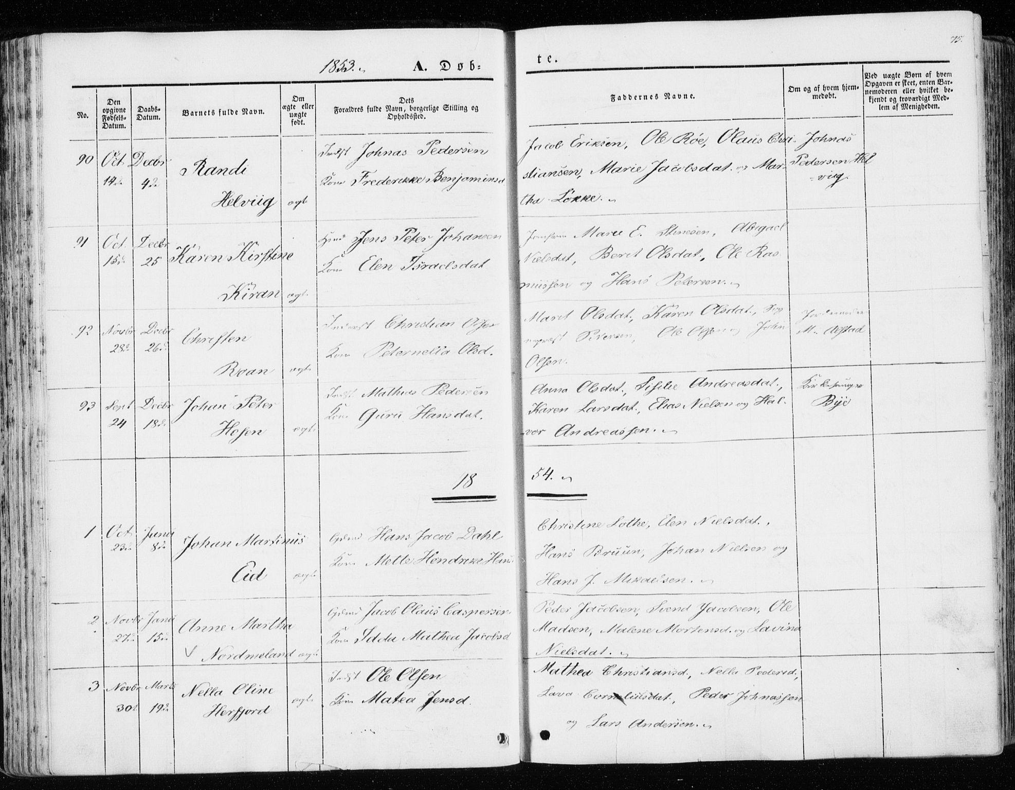 SAT, Ministerialprotokoller, klokkerbøker og fødselsregistre - Sør-Trøndelag, 657/L0704: Ministerialbok nr. 657A05, 1846-1857, s. 75