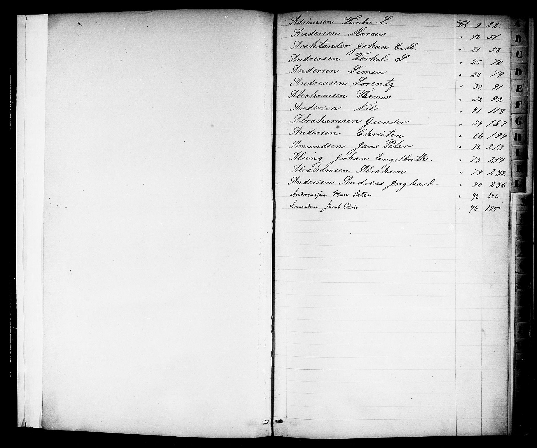 SAKO, Kragerø innrulleringskontor, F/Fd/L0001: Skipper- og styrmannsrulle, 1860-1868, s. 4