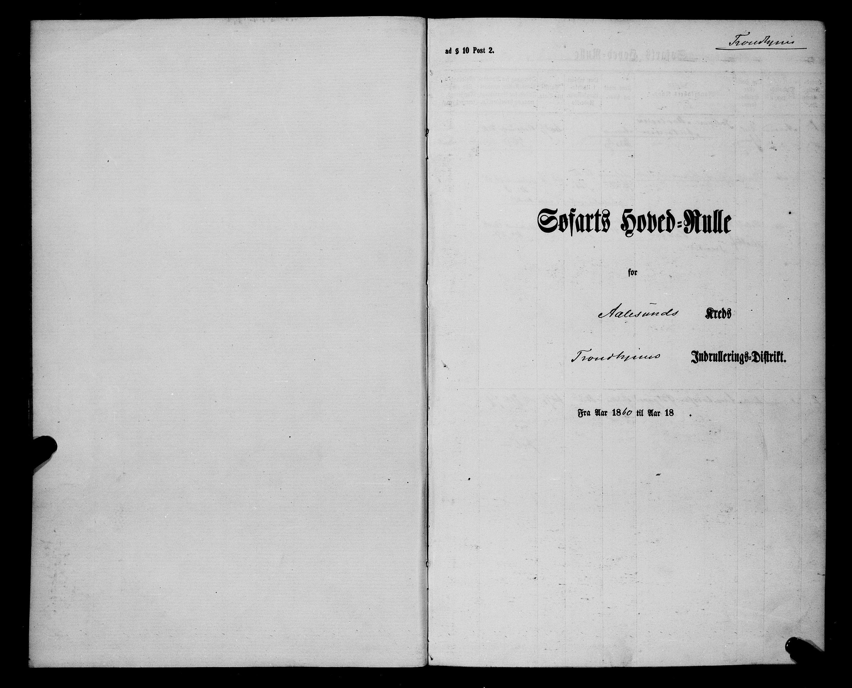 SAT, Sjøinnrulleringen - Trondhjemske distrikt, 01/L0033: --, 1860