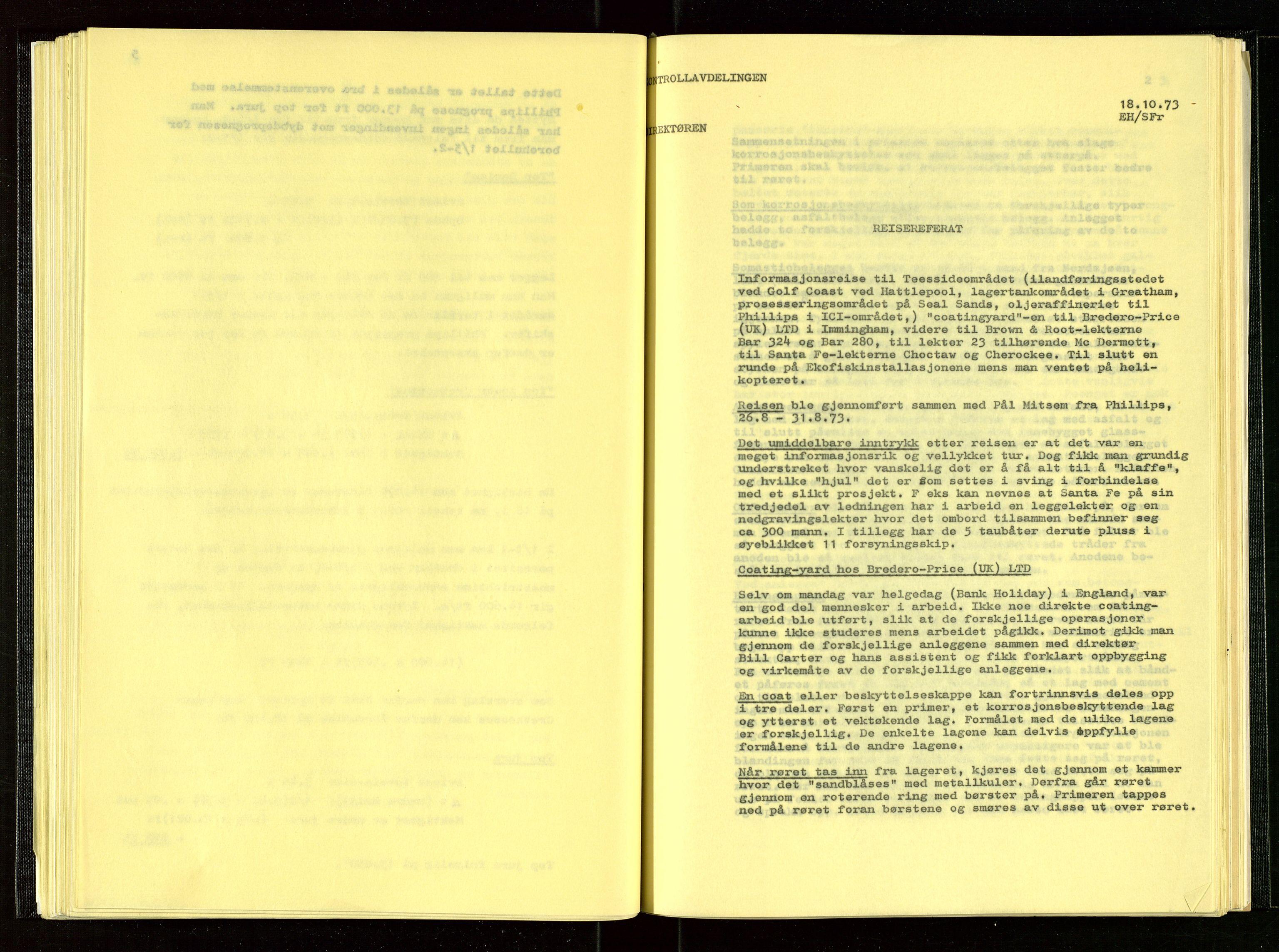 SAST, Oljedirektoratet, Aa/L0001: Referatprotokoller, 1973