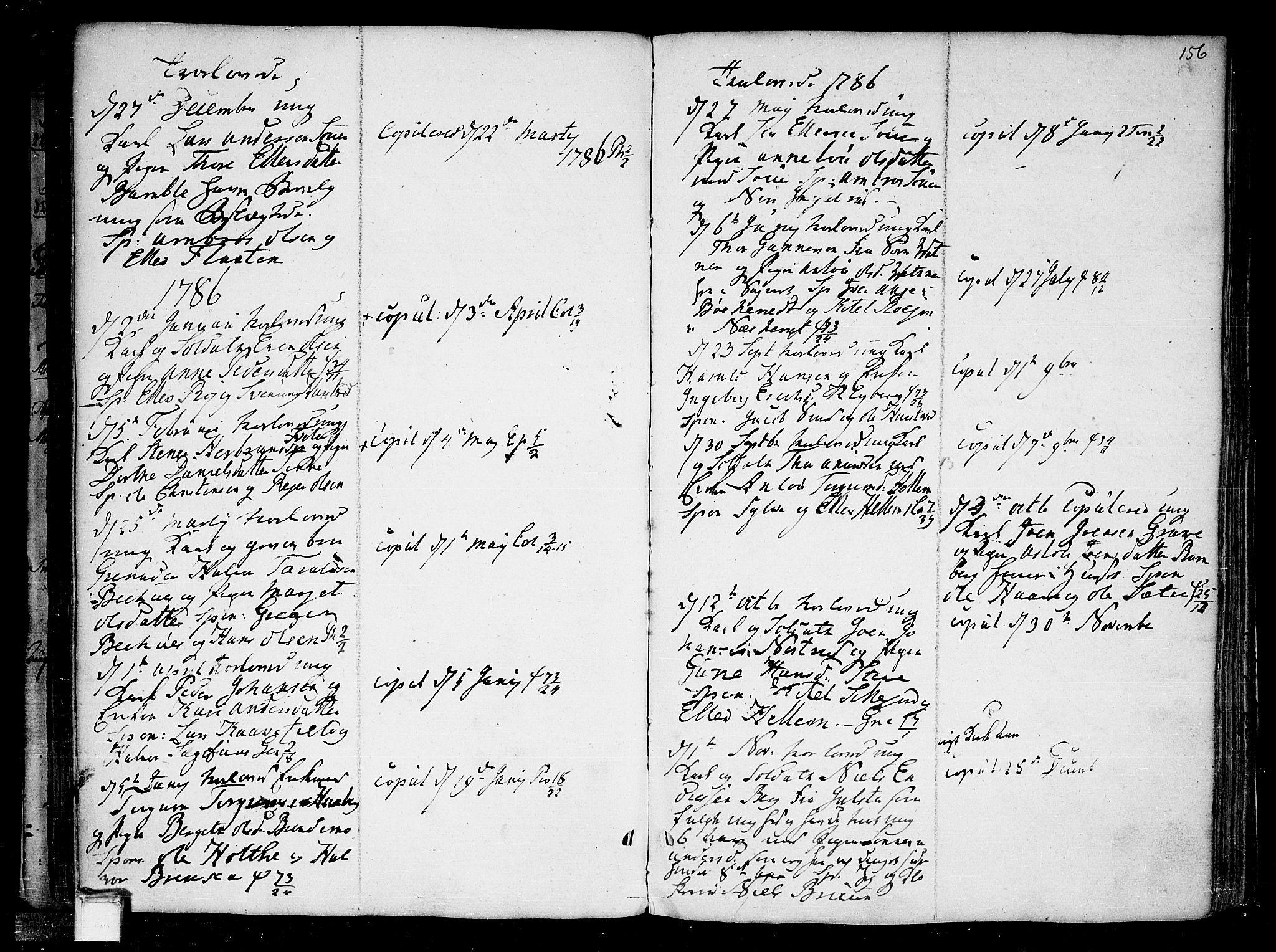 SAKO, Heddal kirkebøker, F/Fa/L0004: Ministerialbok nr. I 4, 1784-1814, s. 156