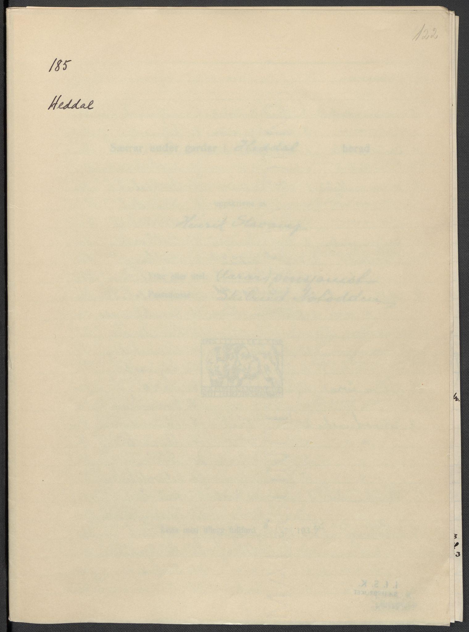 RA, Instituttet for sammenlignende kulturforskning, F/Fc/L0007: Eske B7:, 1934-1937, s. 122