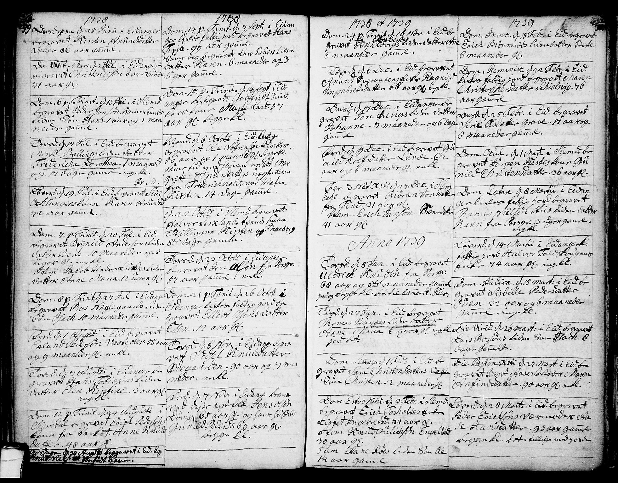SAKO, Eidanger kirkebøker, F/Fa/L0004: Ministerialbok nr. 4, 1733-1759, s. 299-300