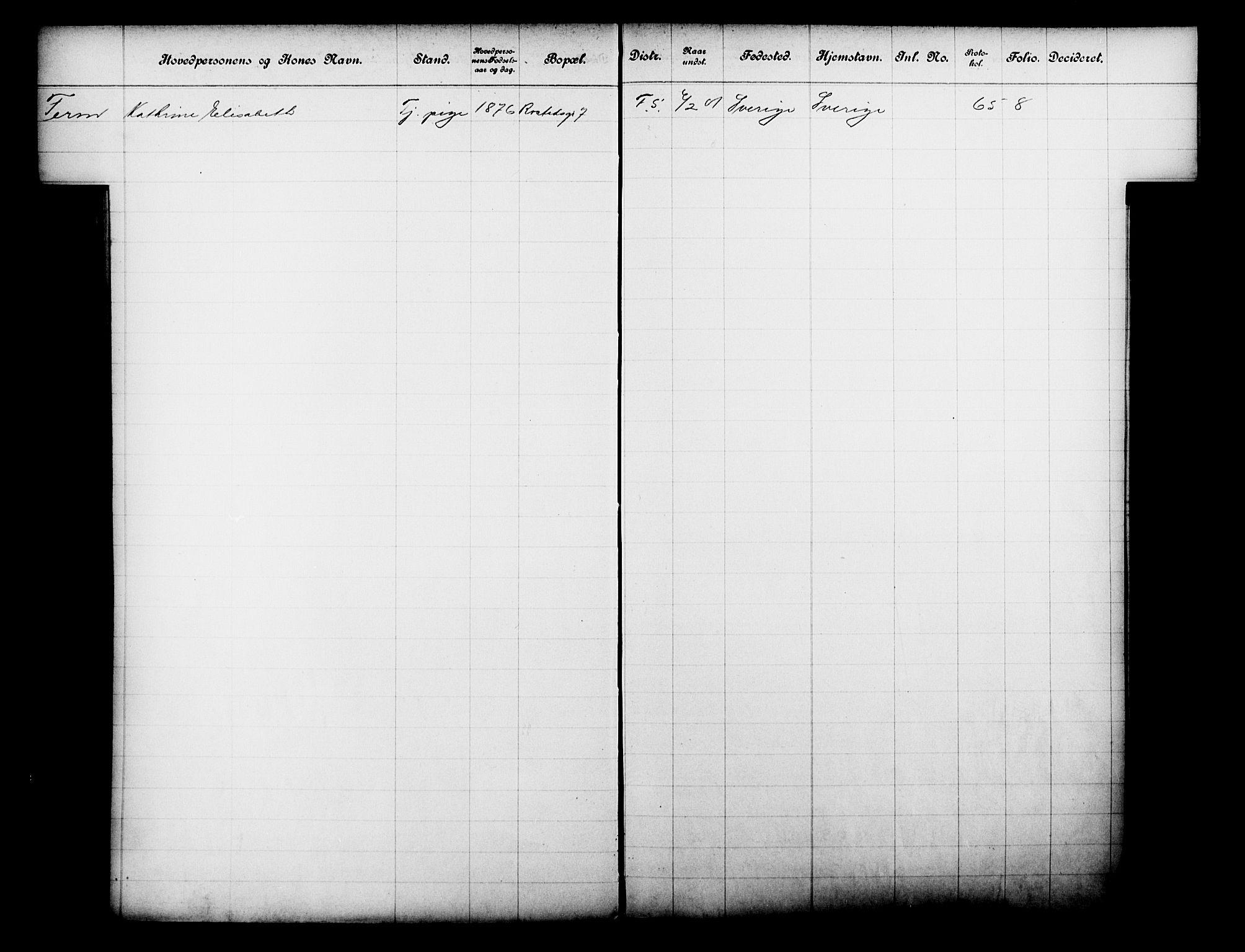 OBA, Fattigvesenet, Fb/L0021: Hjemstavnsregister, 1901, s. 43