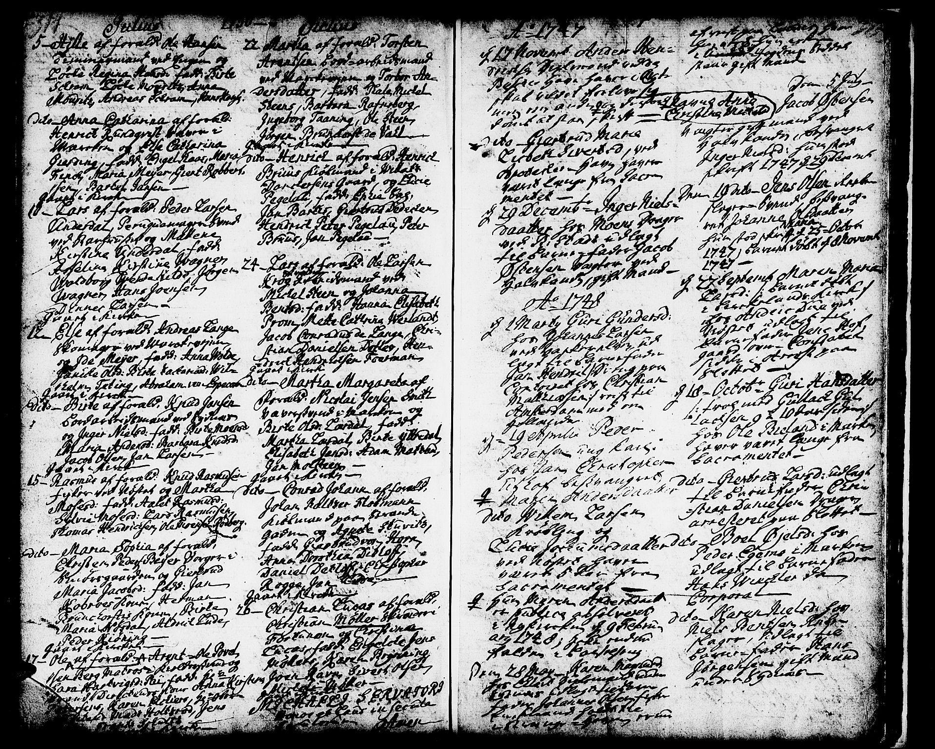 SAB, Domkirken Sokneprestembete, H/Haa/L0002: Ministerialbok nr. A 2, 1733-1750, s. 314-315