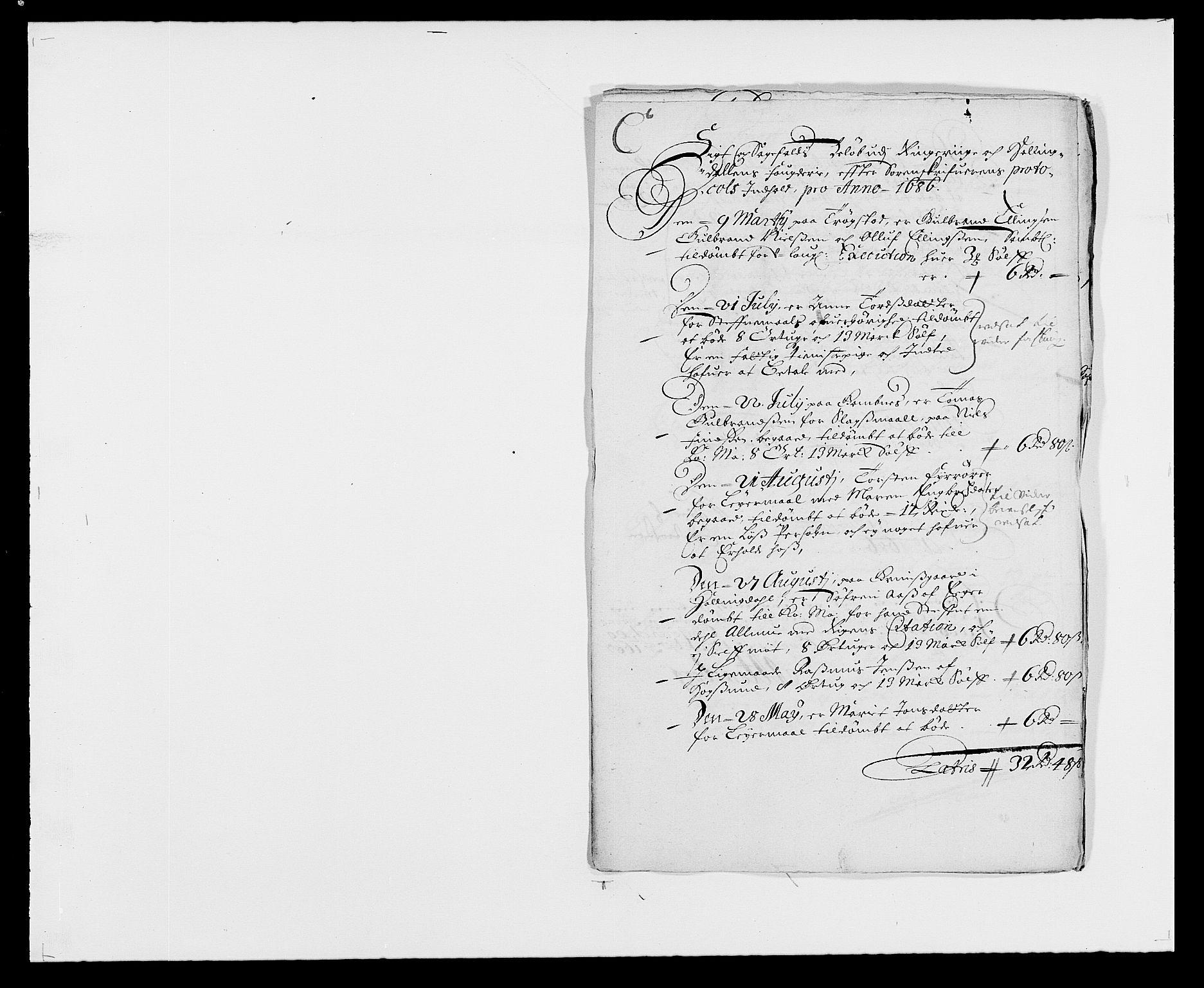 RA, Rentekammeret inntil 1814, Reviderte regnskaper, Fogderegnskap, R21/L1446: Fogderegnskap Ringerike og Hallingdal, 1683-1686, s. 452