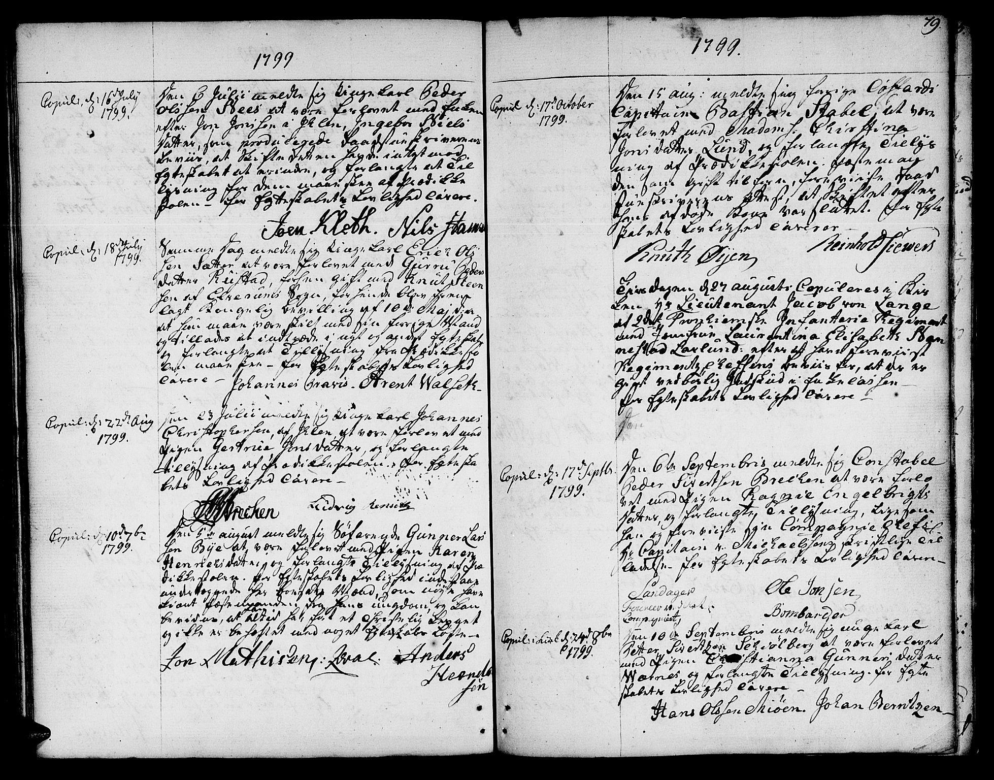 SAT, Ministerialprotokoller, klokkerbøker og fødselsregistre - Sør-Trøndelag, 601/L0041: Ministerialbok nr. 601A09, 1784-1801, s. 79