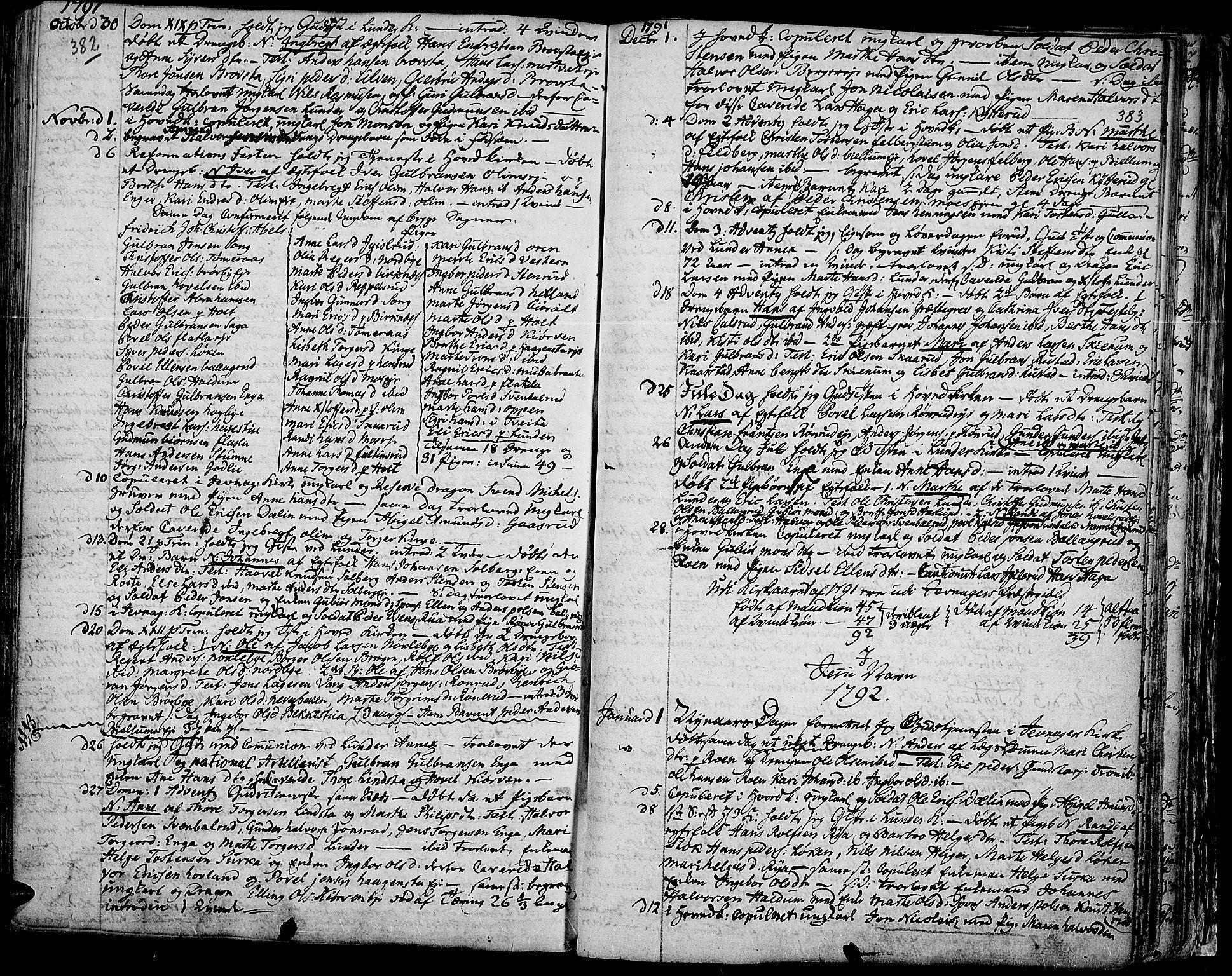 SAH, Jevnaker prestekontor, Ministerialbok nr. 3, 1752-1799, s. 382-383