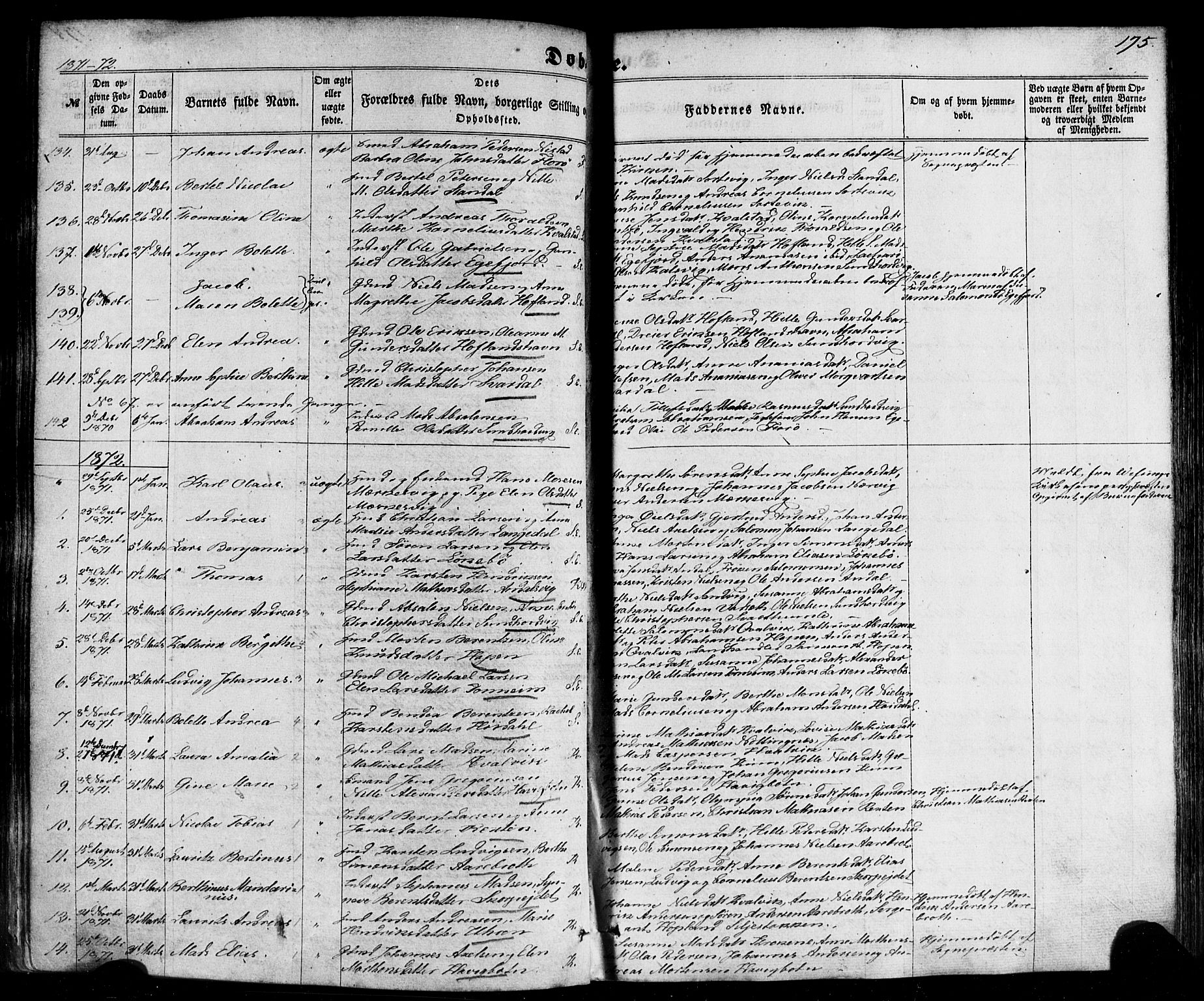 SAB, Kinn sokneprestembete, H/Haa/Haaa/L0006: Ministerialbok nr. A 6, 1857-1885, s. 175