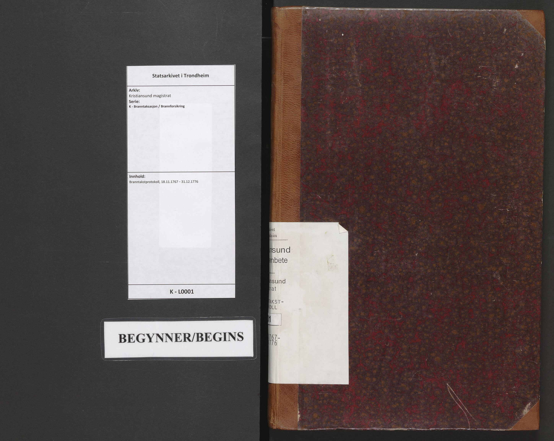 SAT, Kristiansund magistrat, K/L0001: Branntakstprotokoll, 1767-1776