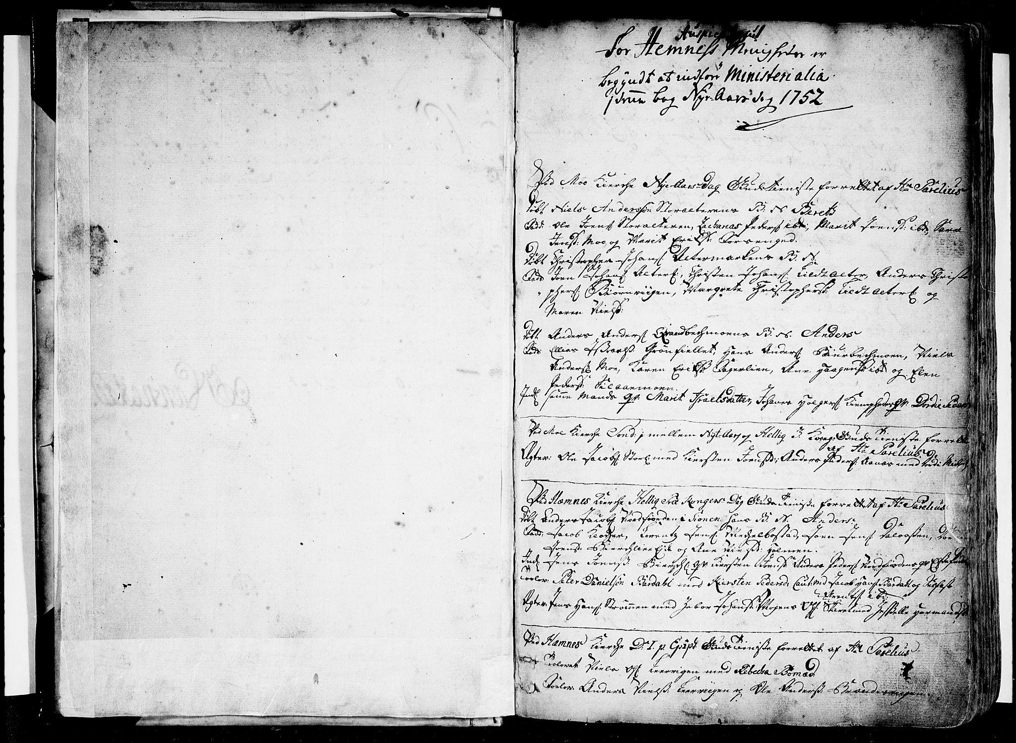 SAT, Ministerialprotokoller, klokkerbøker og fødselsregistre - Nordland, 825/L0348: Ministerialbok nr. 825A04, 1752-1788