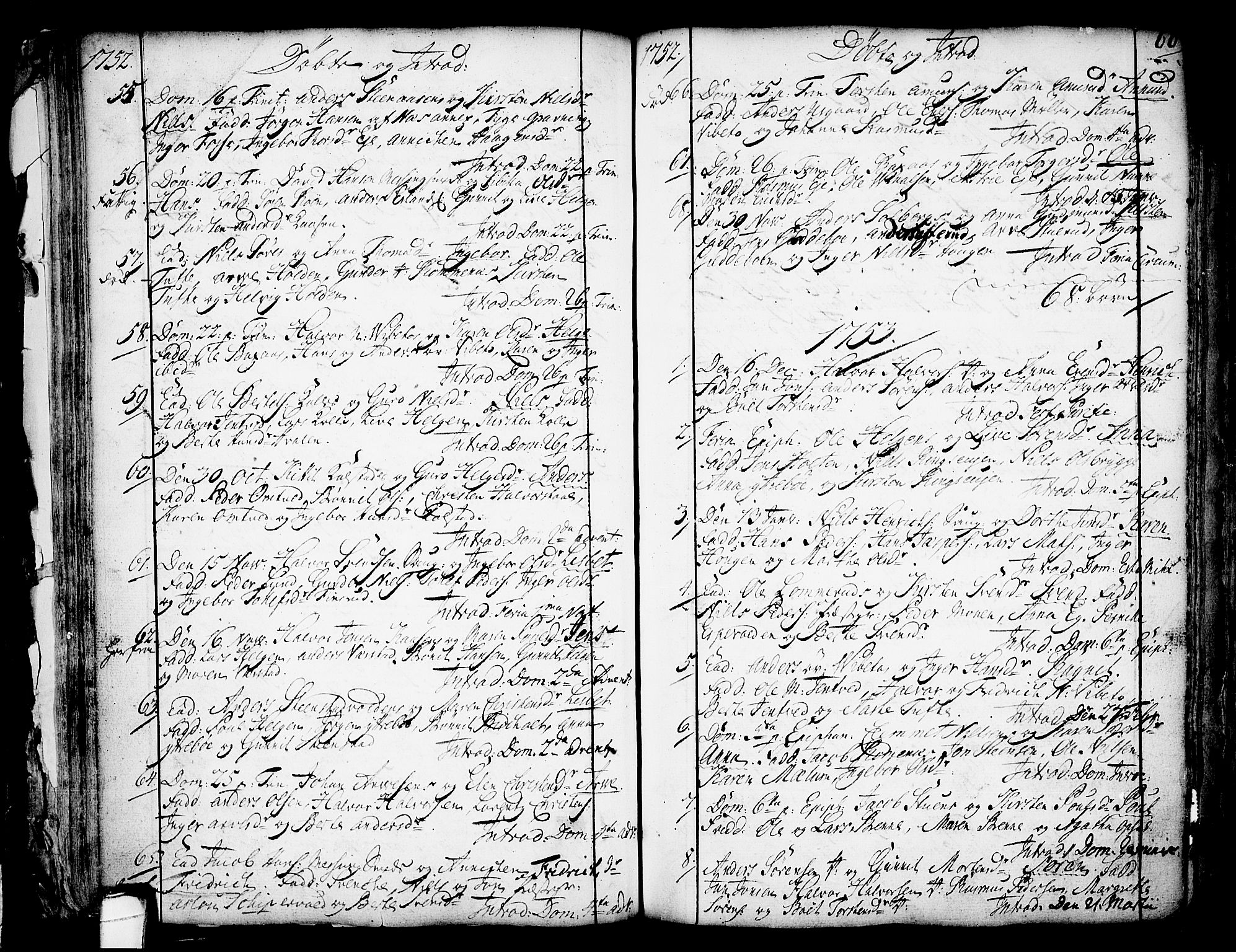 SAKO, Holla kirkebøker, F/Fa/L0001: Ministerialbok nr. 1, 1717-1779, s. 60