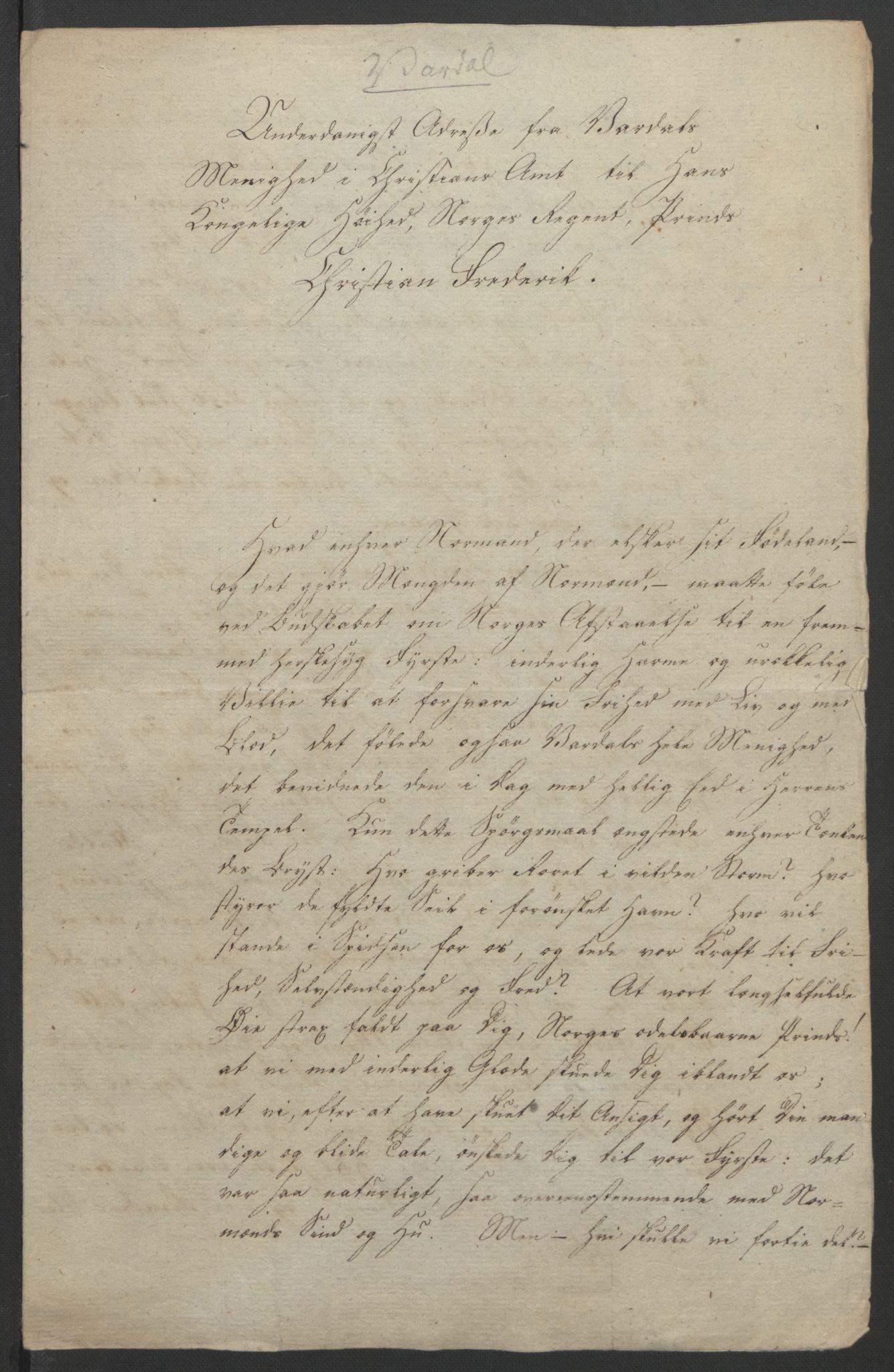 RA, Statsrådssekretariatet, D/Db/L0007: Fullmakter for Eidsvollsrepresentantene i 1814. , 1814, s. 293