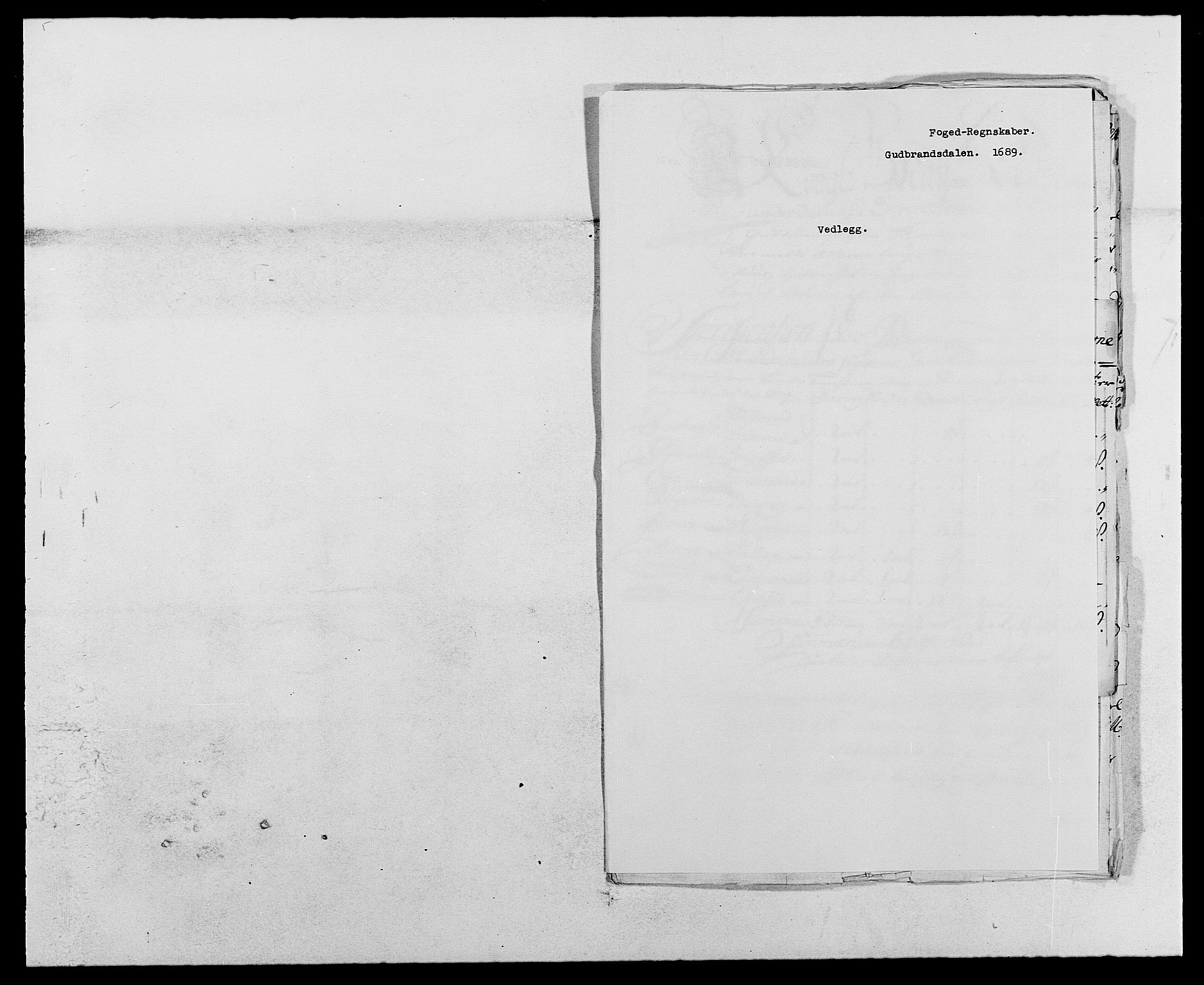 RA, Rentekammeret inntil 1814, Reviderte regnskaper, Fogderegnskap, R17/L1164: Fogderegnskap Gudbrandsdal, 1682-1689, s. 178
