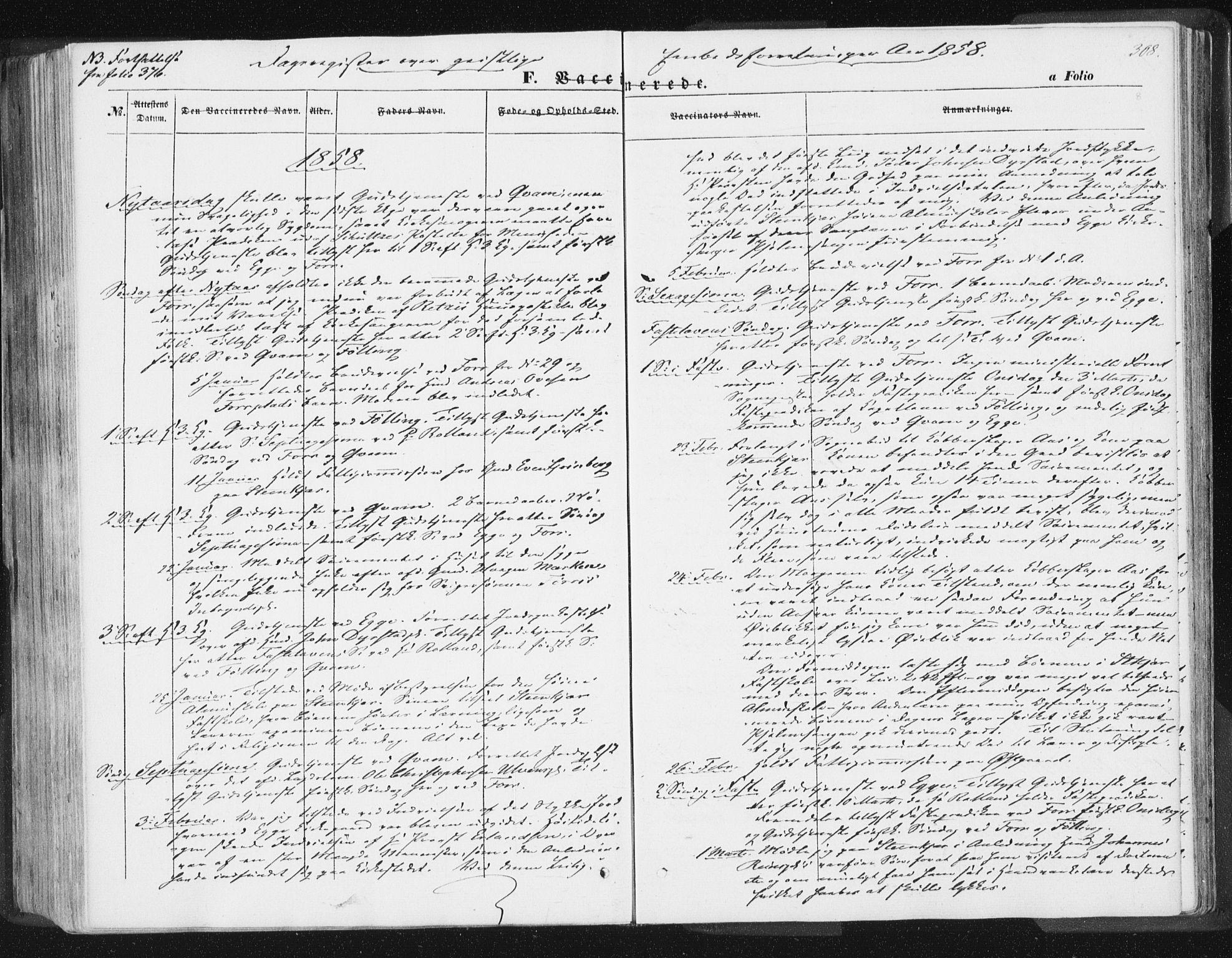 SAT, Ministerialprotokoller, klokkerbøker og fødselsregistre - Nord-Trøndelag, 746/L0446: Ministerialbok nr. 746A05, 1846-1859, s. 308