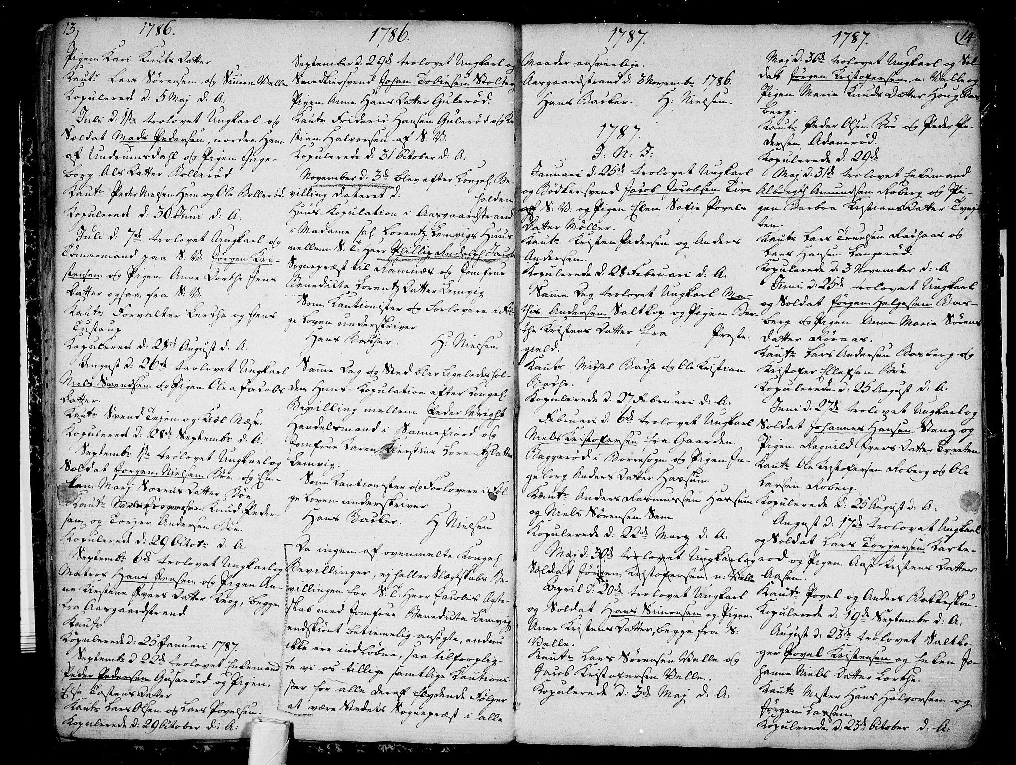 SAKO, Sem kirkebøker, F/Fb/L0002: Ministerialbok nr. II 2, 1764-1792, s. 13-14