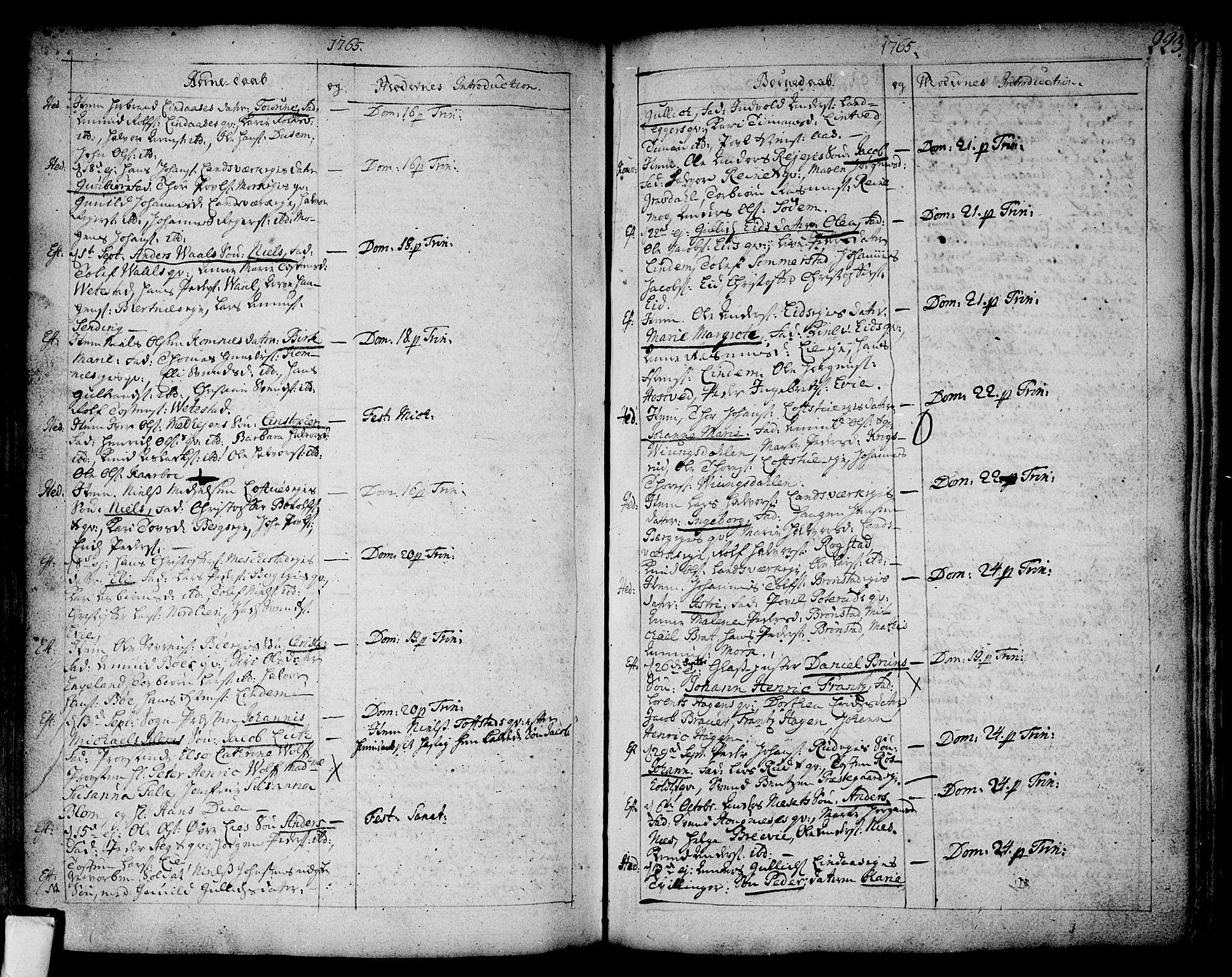 SAKO, Sandsvær kirkebøker, F/Fa/L0002a: Ministerialbok nr. I 2, 1725-1809, s. 223