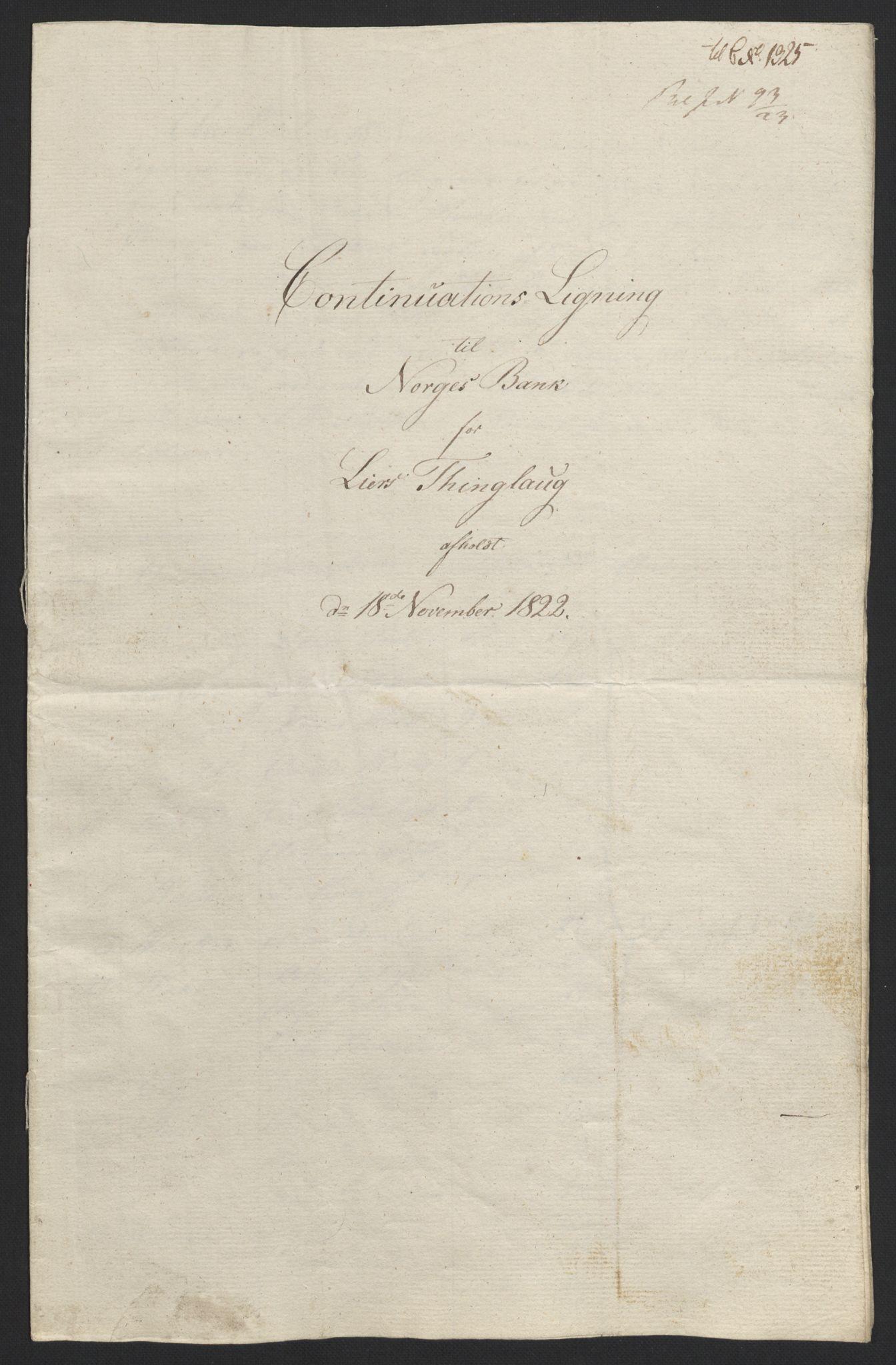 NOBA, Norges Bank/Sølvskatten 1816*, 1816-1822, s. 34