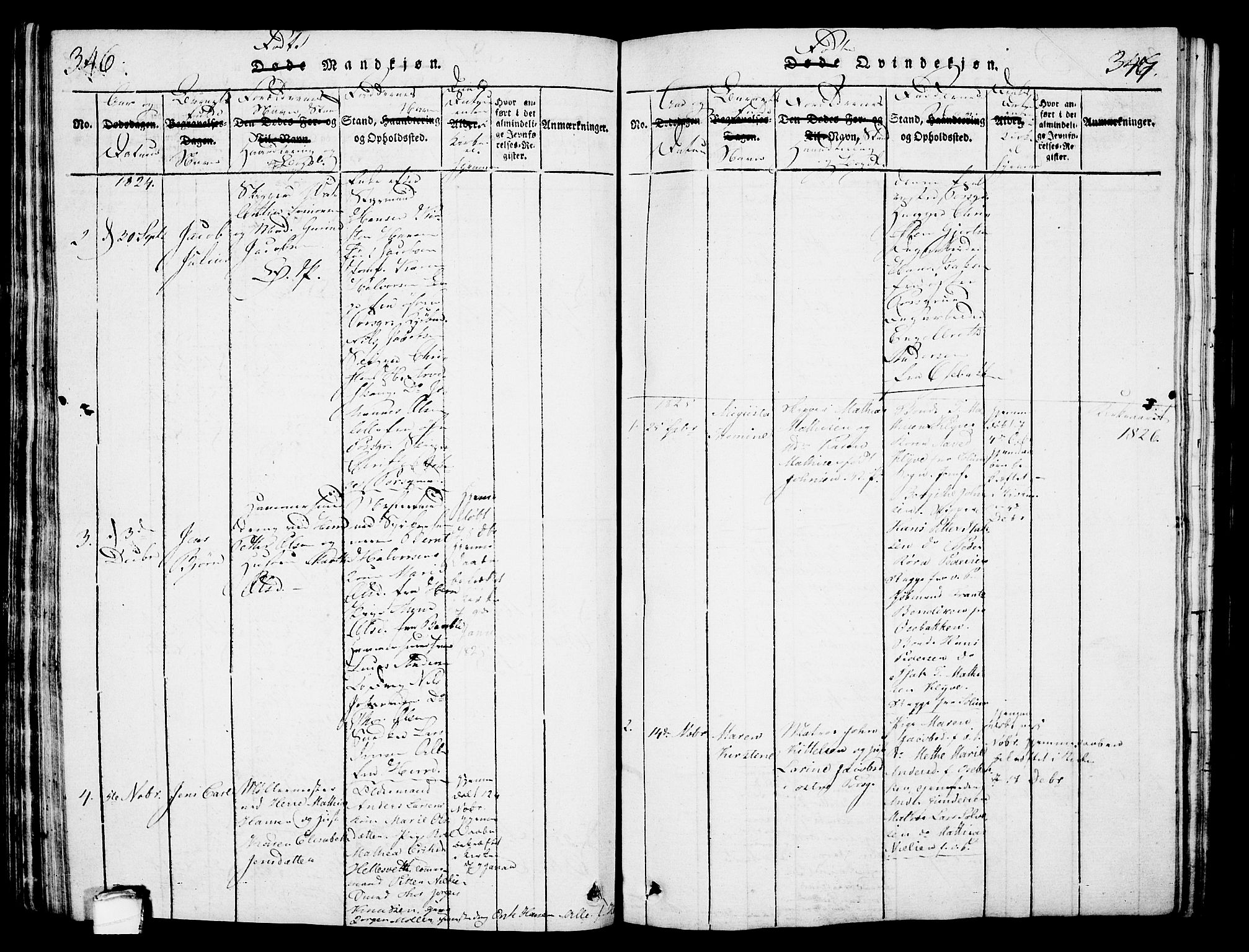 SAKO, Porsgrunn kirkebøker , G/Gb/L0001: Klokkerbok nr. II 1, 1817-1828, s. 346-347