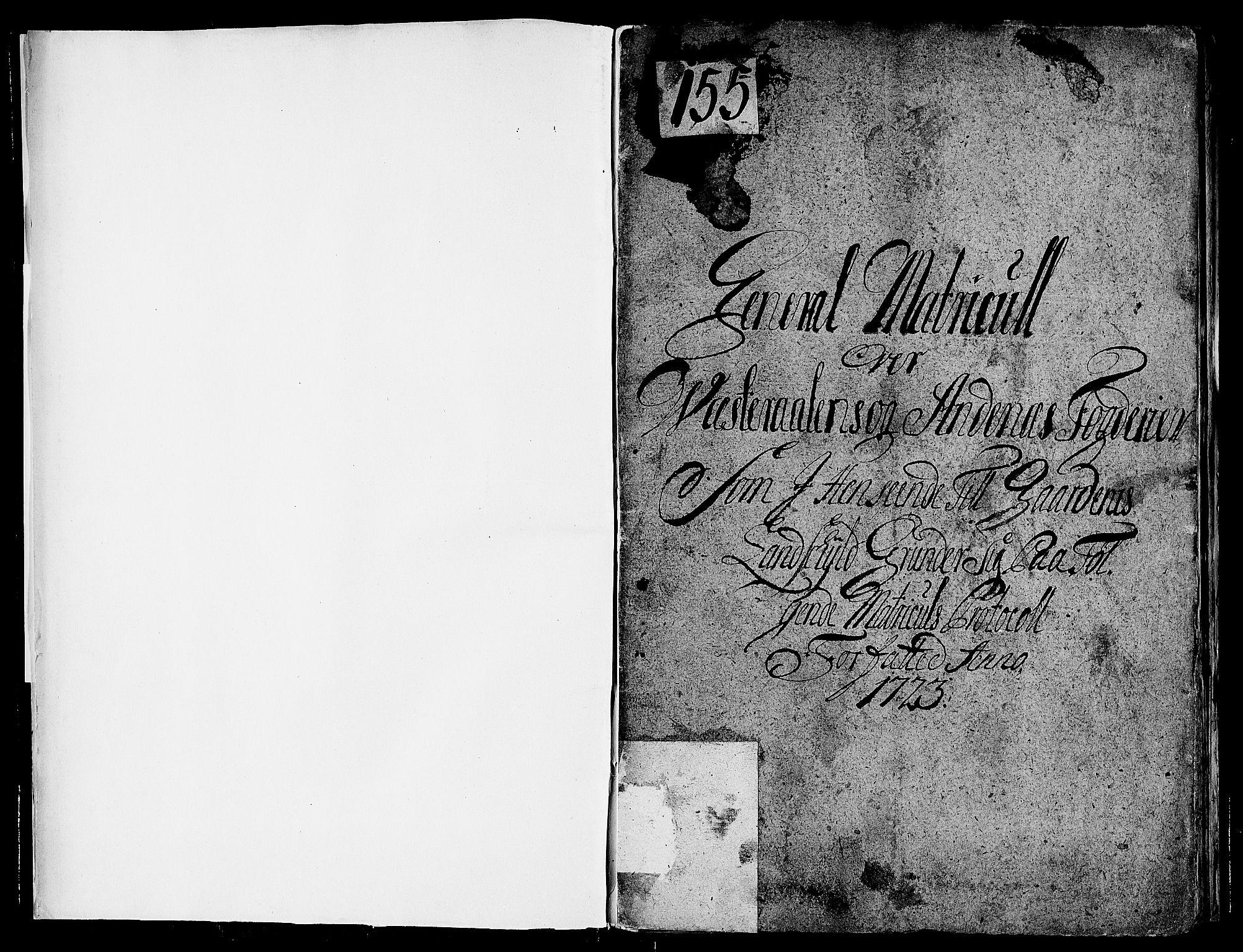 RA, Rentekammeret inntil 1814, Realistisk ordnet avdeling, N/Nb/Nbf/L0177: Vesterålen og Andenes matrikkelprotokoll, 1723, s. upaginert