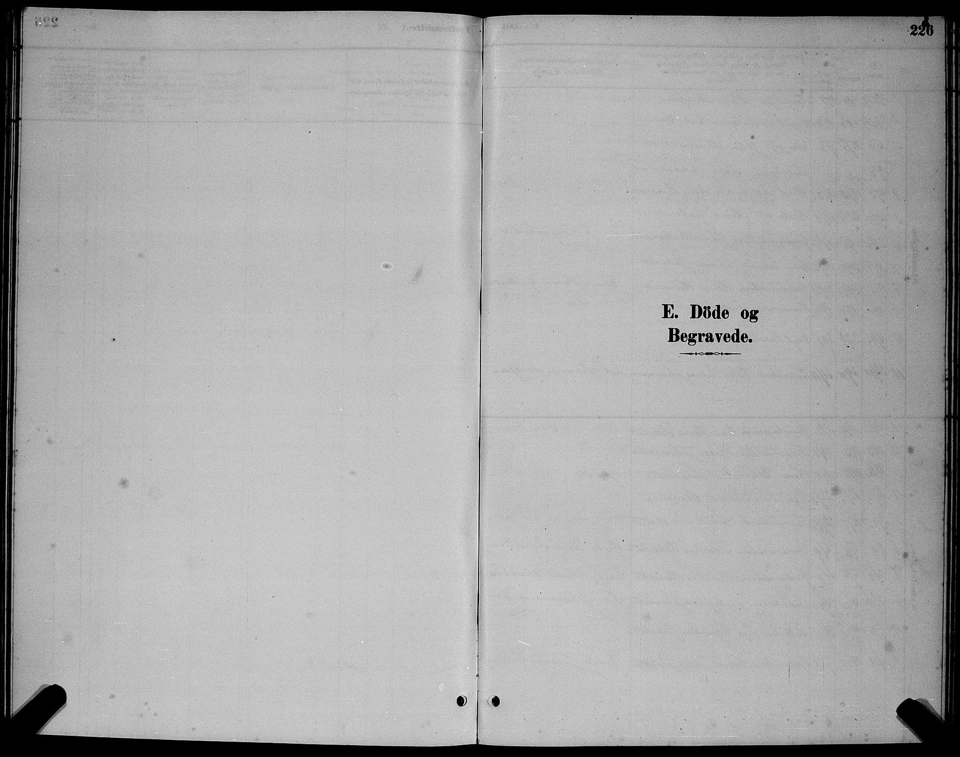 SAT, Ministerialprotokoller, klokkerbøker og fødselsregistre - Sør-Trøndelag, 655/L0687: Klokkerbok nr. 655C03, 1880-1898, s. 226