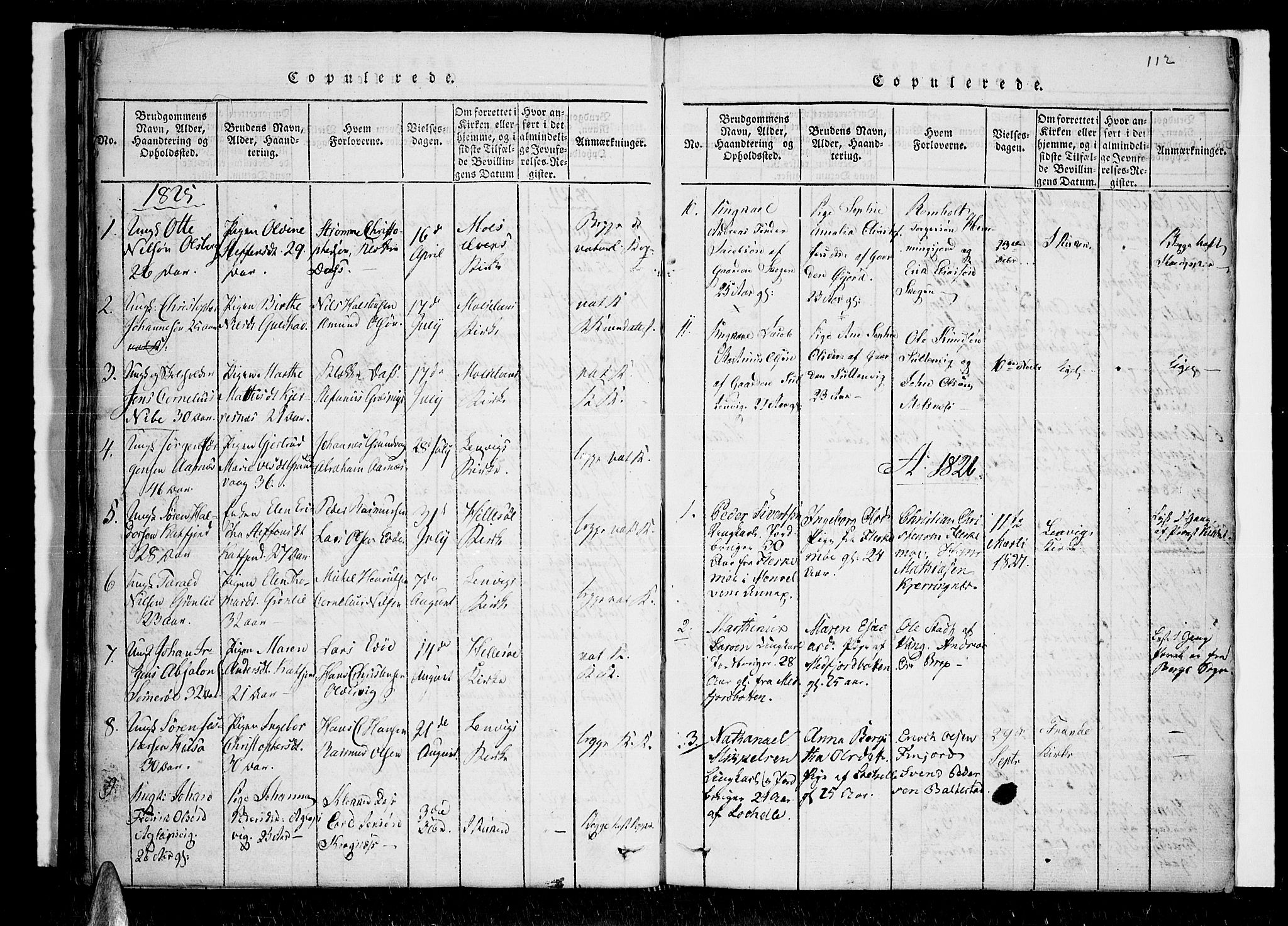 SATØ, Lenvik sokneprestembete, H/Ha: Ministerialbok nr. 3, 1820-1831, s. 112