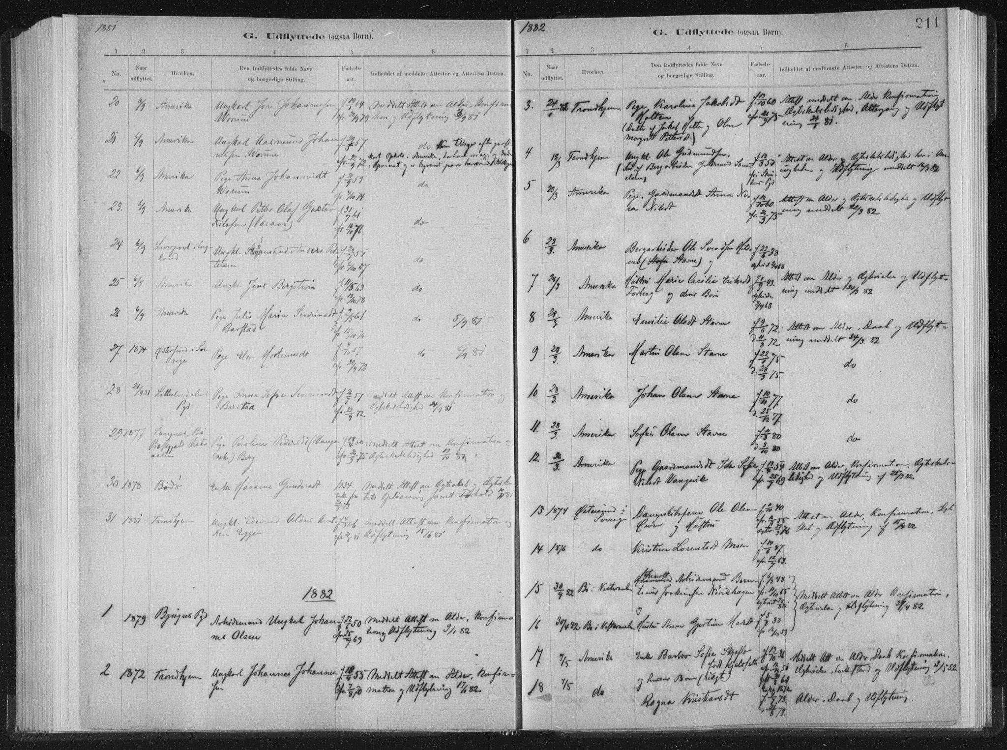 SAT, Ministerialprotokoller, klokkerbøker og fødselsregistre - Nord-Trøndelag, 722/L0220: Ministerialbok nr. 722A07, 1881-1908, s. 211