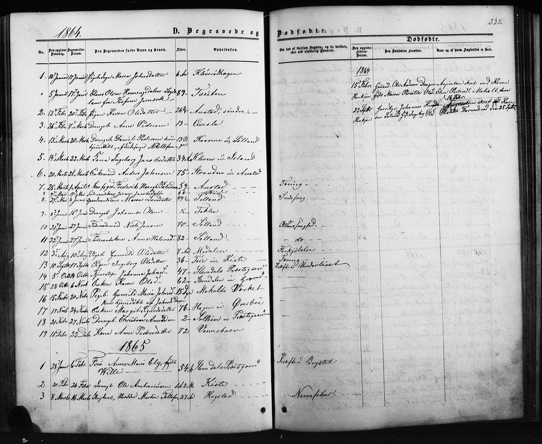 SAKO, Siljan kirkebøker, G/Ga/L0002: Klokkerbok nr. 2, 1864-1908, s. 232