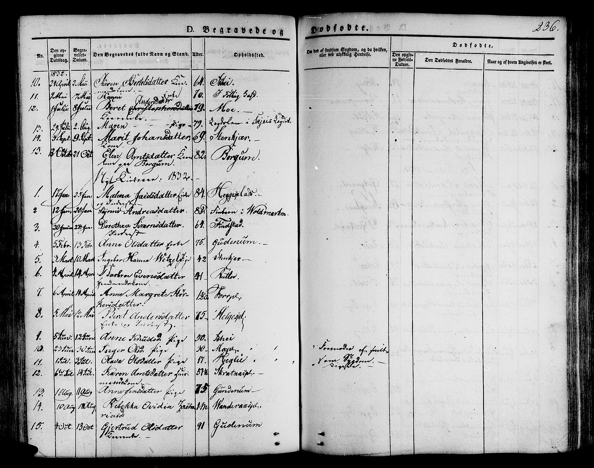 SAT, Ministerialprotokoller, klokkerbøker og fødselsregistre - Nord-Trøndelag, 746/L0445: Ministerialbok nr. 746A04, 1826-1846, s. 236