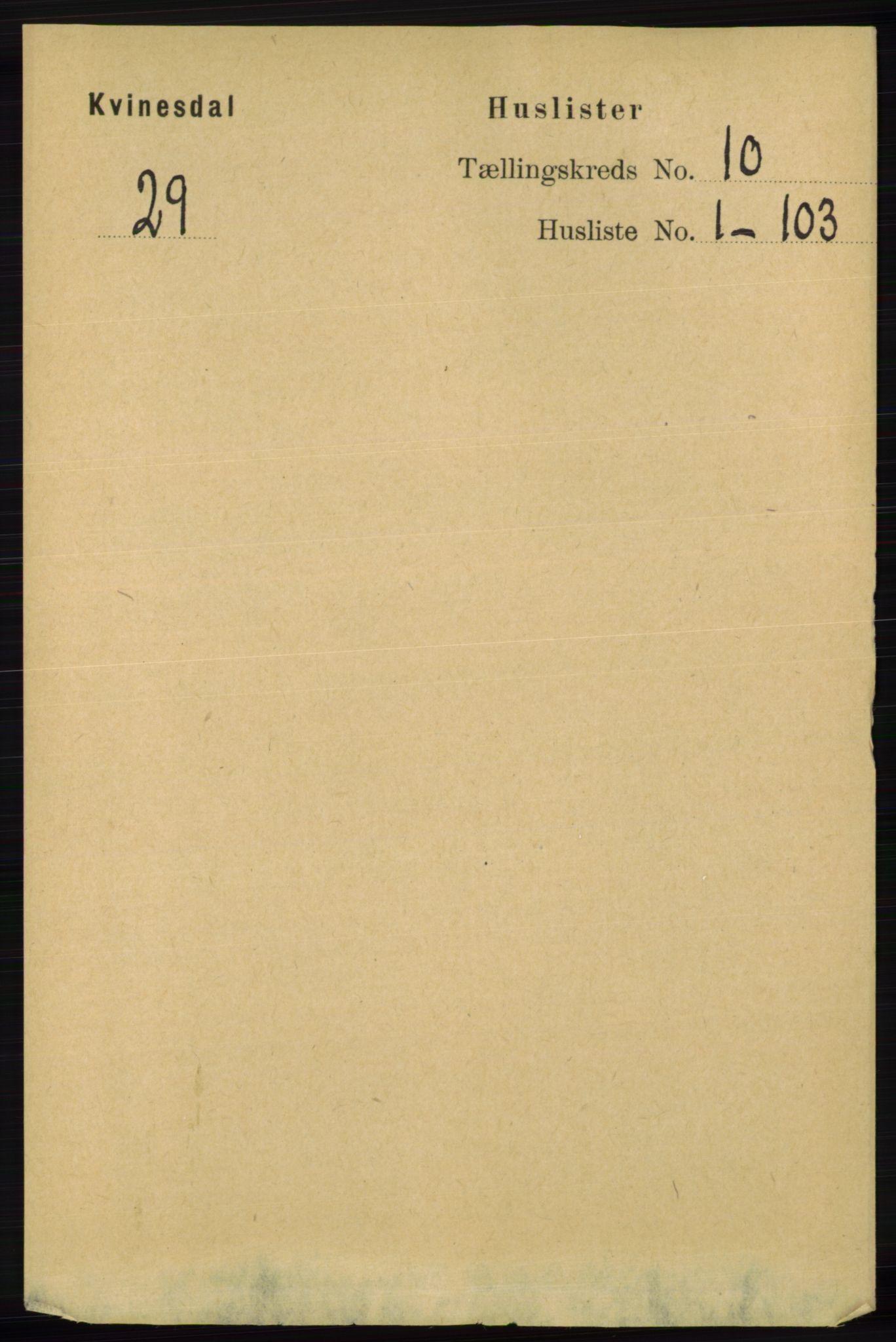 RA, Folketelling 1891 for 1037 Kvinesdal herred, 1891, s. 3750
