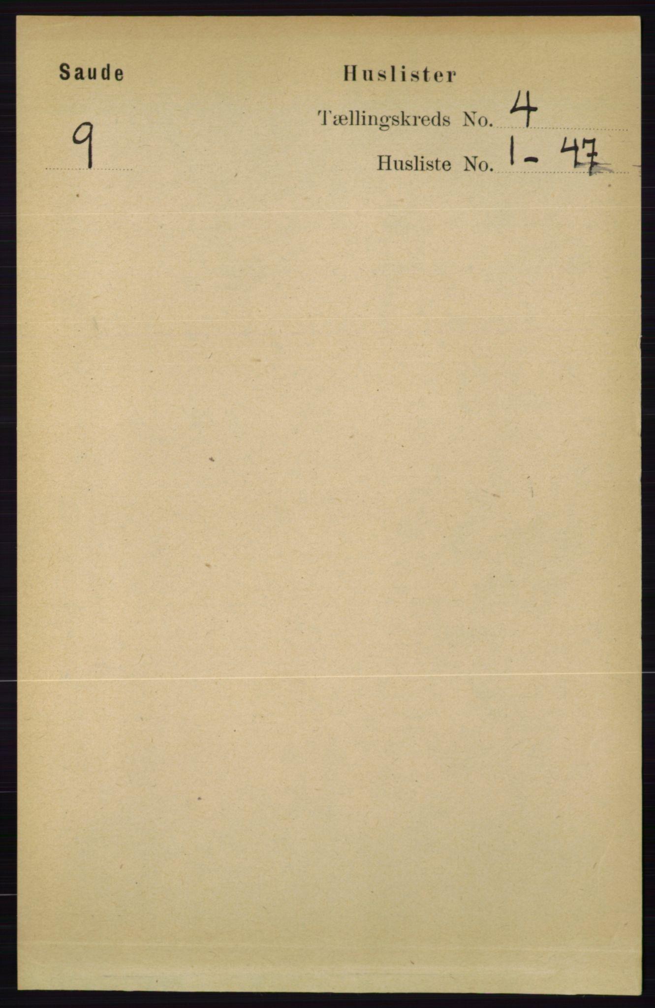 RA, Folketelling 1891 for 0822 Sauherad herred, 1891, s. 1046