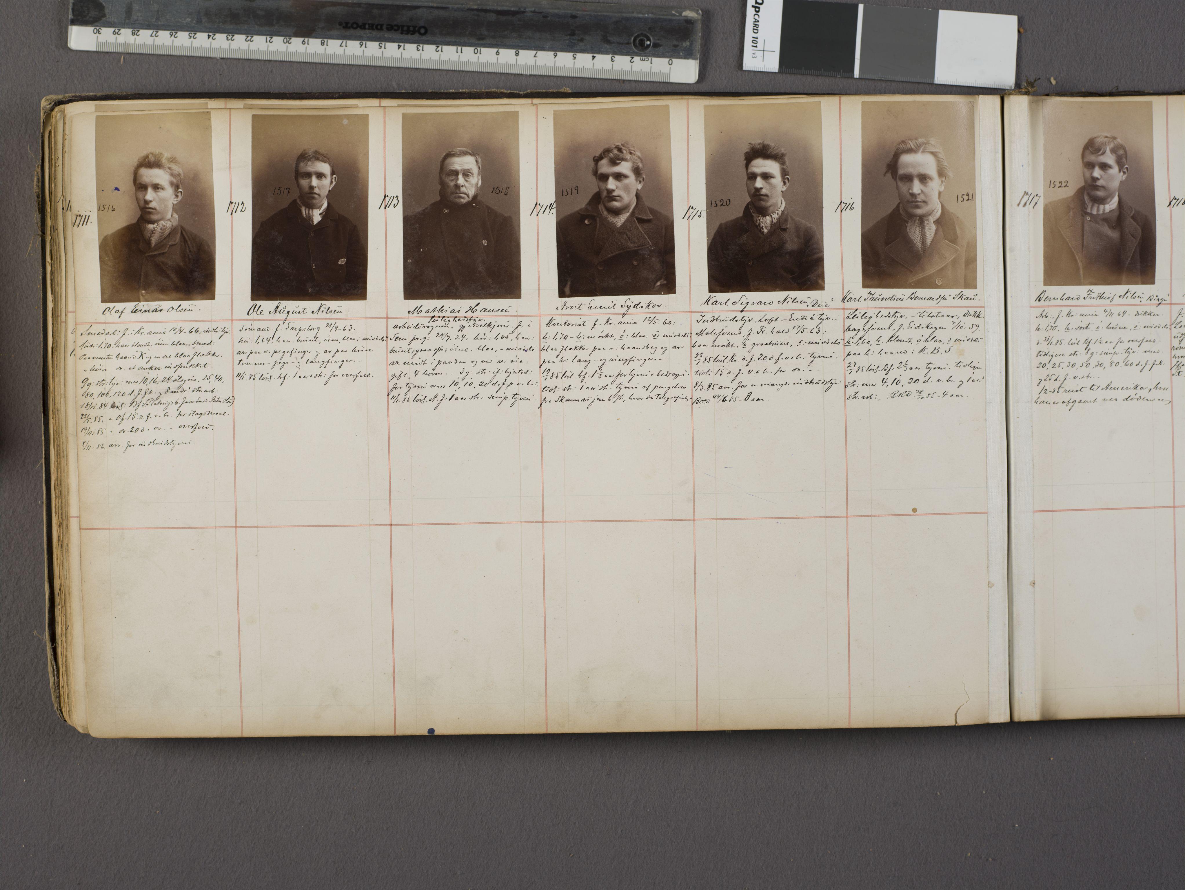SAO, Oslo politikammer, Kriminalavdelingen, U/Ua/L0001: Forbryteralbum, 1880-1887, s. 31