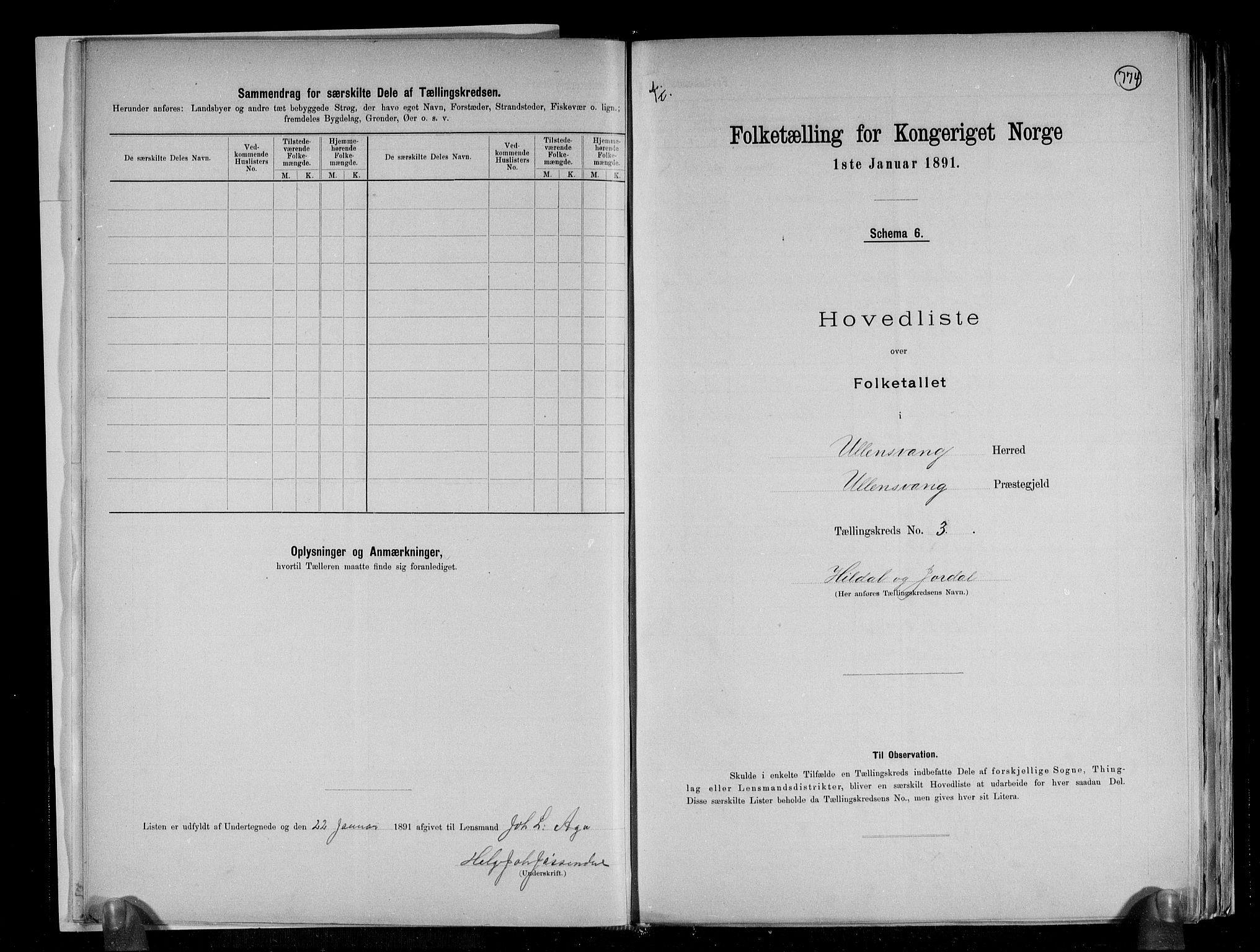 RA, Folketelling 1891 for 1230 Ullensvang herred, 1891, s. 10