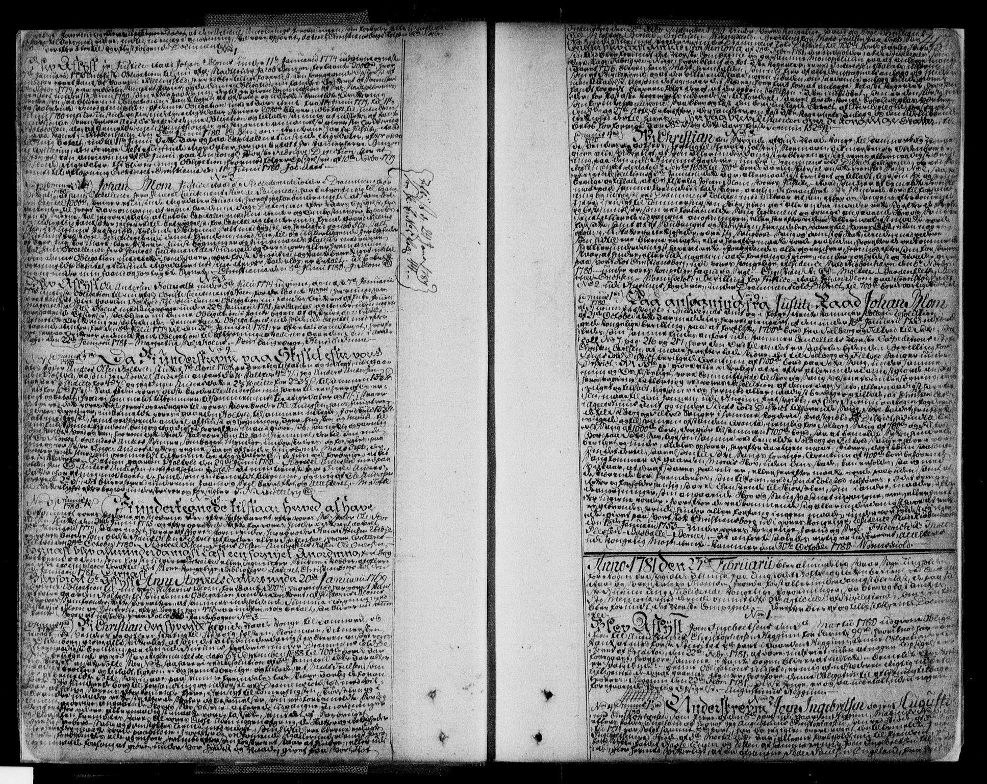 SAKO, Lier, Røyken og Hurum sorenskriveri, G/Ga/Gaa/L0004b: Pantebok nr. IVb, 1779-1788, s. 412