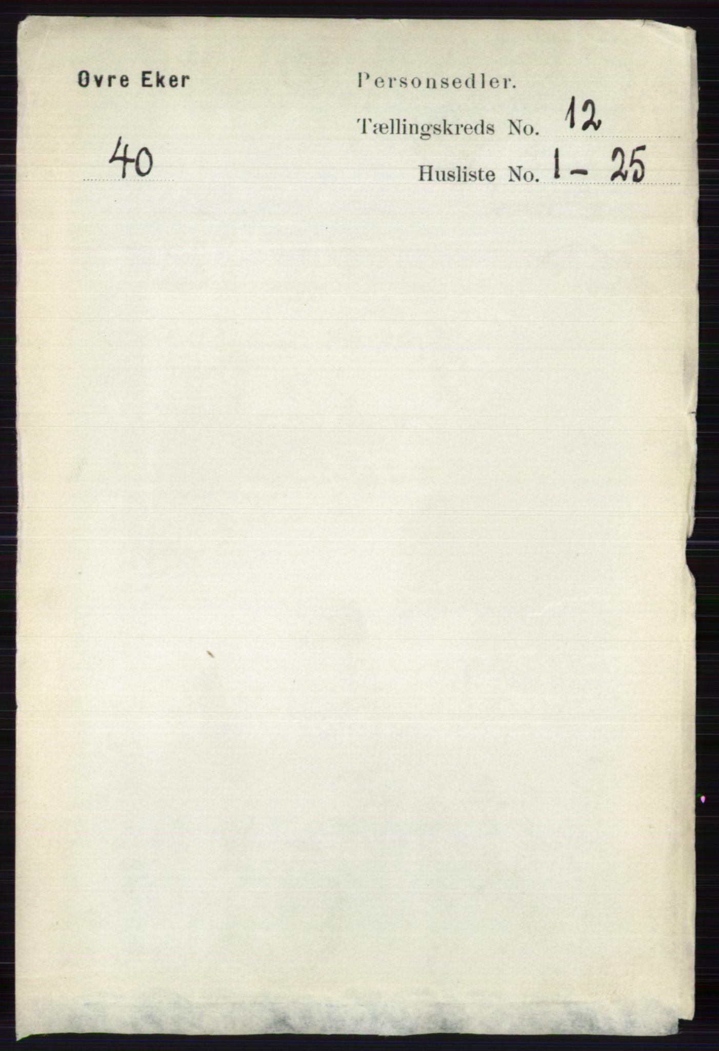RA, Folketelling 1891 for 0624 Øvre Eiker herred, 1891, s. 5284