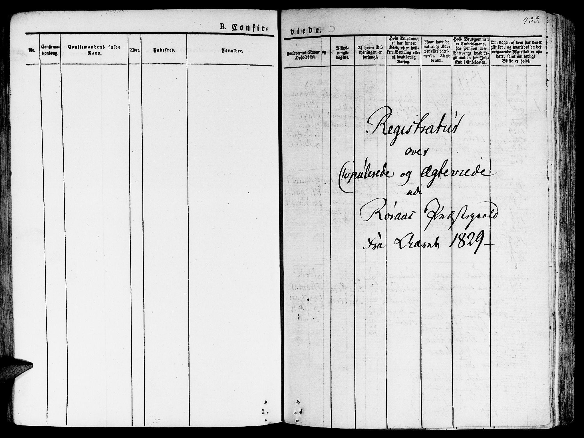 SAT, Ministerialprotokoller, klokkerbøker og fødselsregistre - Sør-Trøndelag, 681/L0930: Ministerialbok nr. 681A08, 1829-1844, s. 433