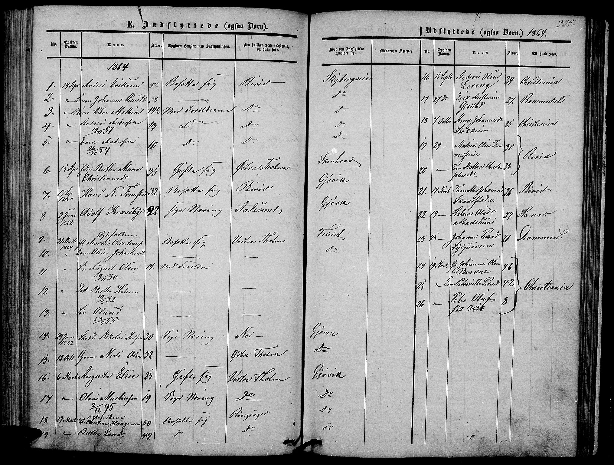 SAH, Vardal prestekontor, H/Ha/Hab/L0005: Klokkerbok nr. 5, 1854-1868, s. 325