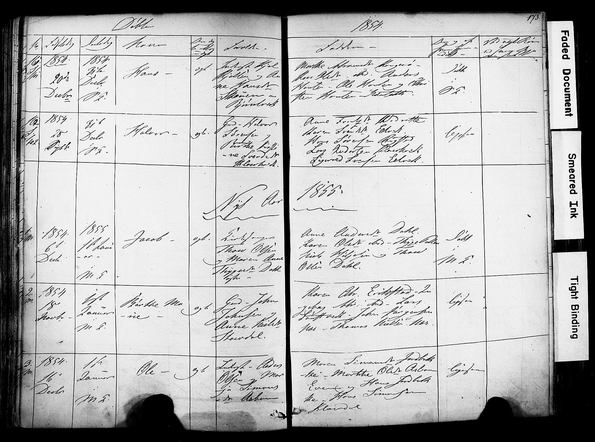 SAKO, Solum kirkebøker, F/Fa/L0006: Ministerialbok nr. I 6, 1844-1855, s. 173