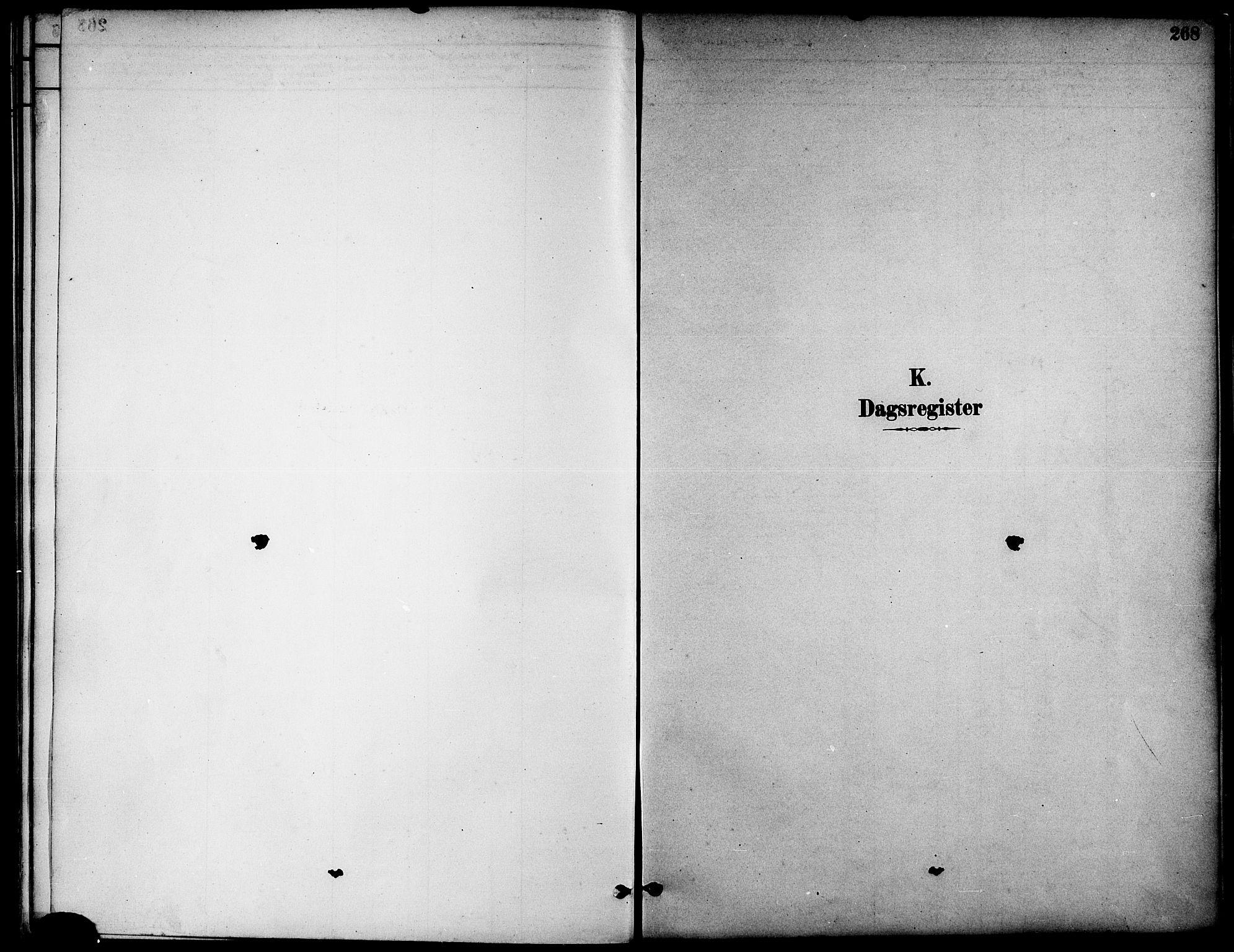 SAT, Ministerialprotokoller, klokkerbøker og fødselsregistre - Nord-Trøndelag, 739/L0371: Ministerialbok nr. 739A03, 1881-1895, s. 268