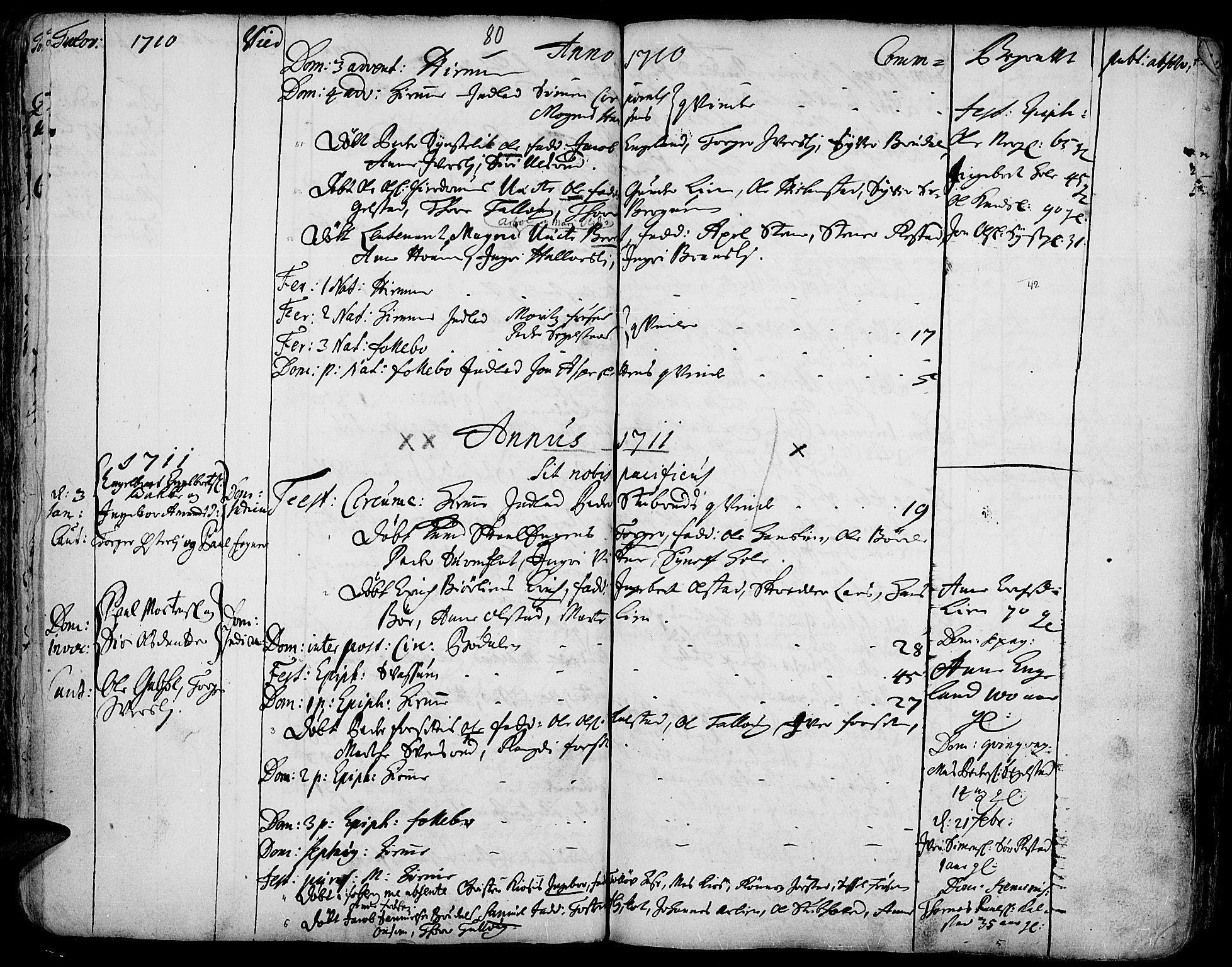 SAH, Gausdal prestekontor, Ministerialbok nr. 1, 1693-1728, s. 80