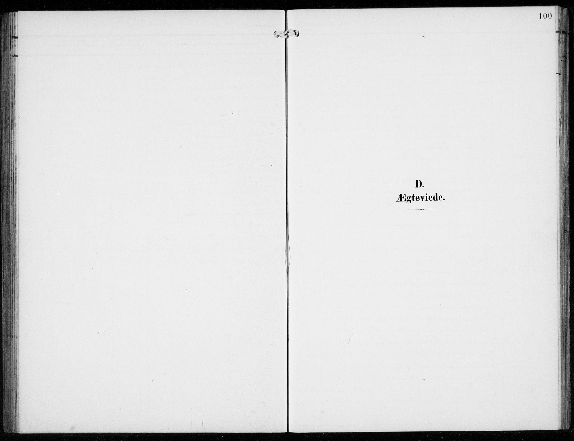SAB, Ullensvang Sokneprestembete, H/Hab: Klokkerbok nr. F  1, 1902-1935, s. 100