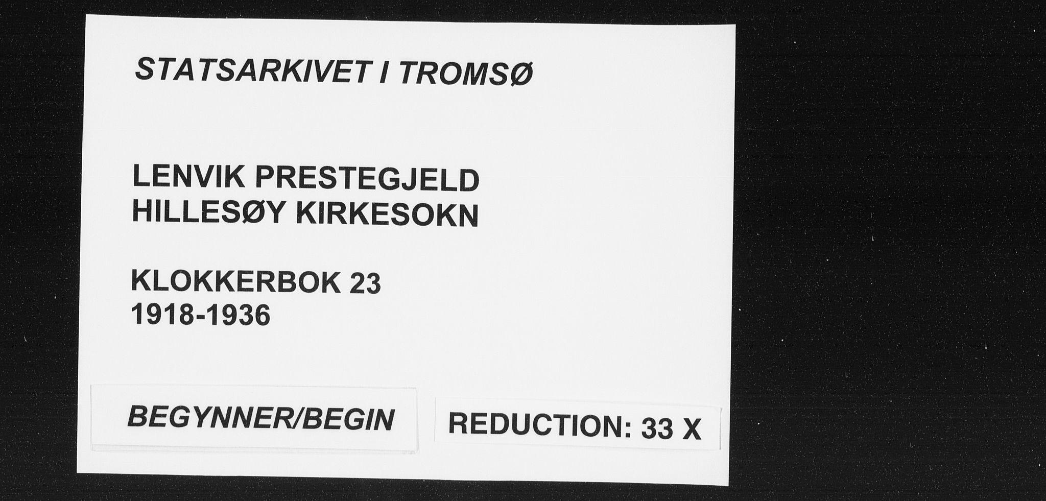 SATØ, Lenvik sokneprestembete, H/Ha: Klokkerbok nr. 23, 1918-1936
