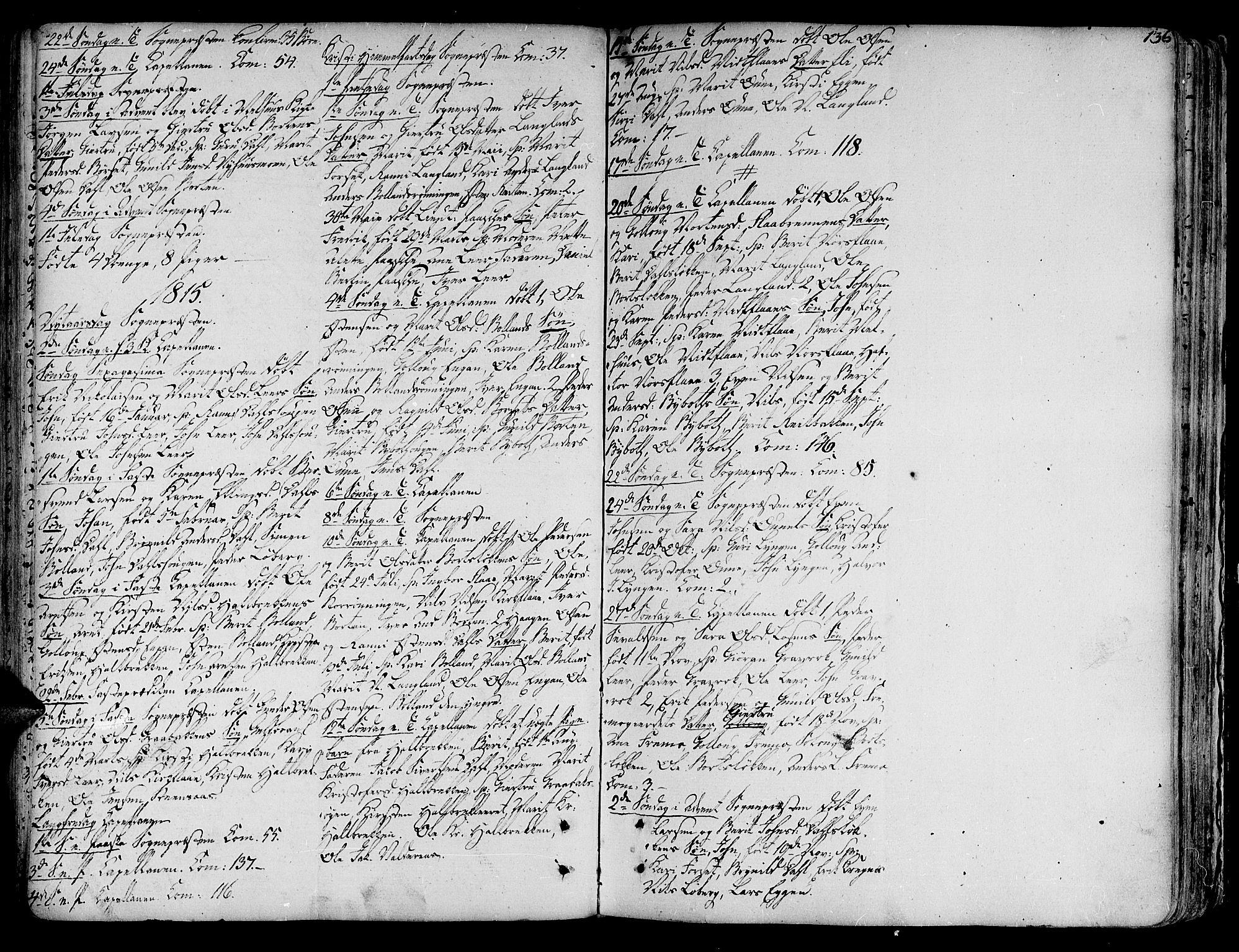 SAT, Ministerialprotokoller, klokkerbøker og fødselsregistre - Sør-Trøndelag, 691/L1062: Ministerialbok nr. 691A02 /2, 1768-1815, s. 136