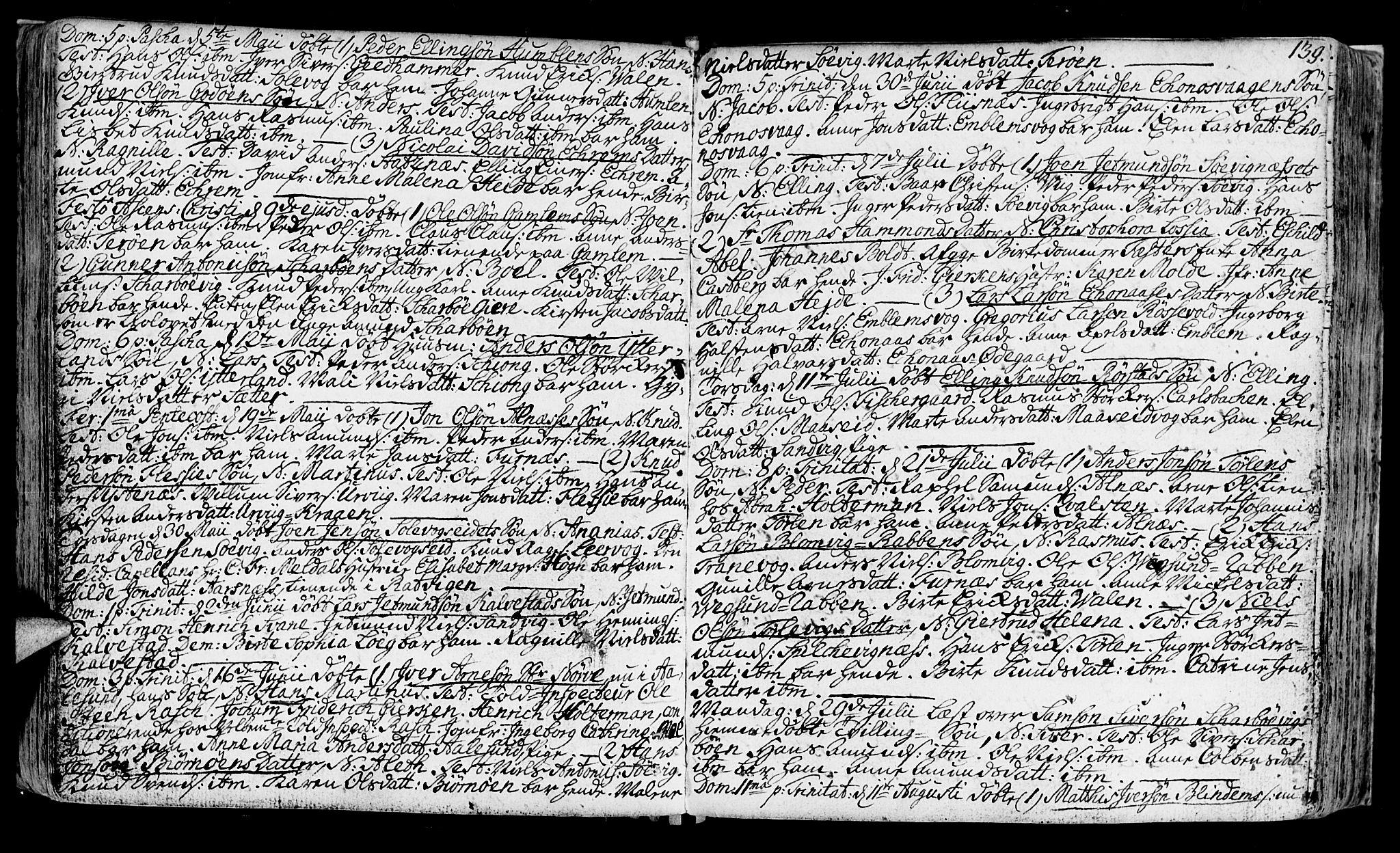 SAT, Ministerialprotokoller, klokkerbøker og fødselsregistre - Møre og Romsdal, 528/L0392: Ministerialbok nr. 528A03, 1762-1800, s. 139