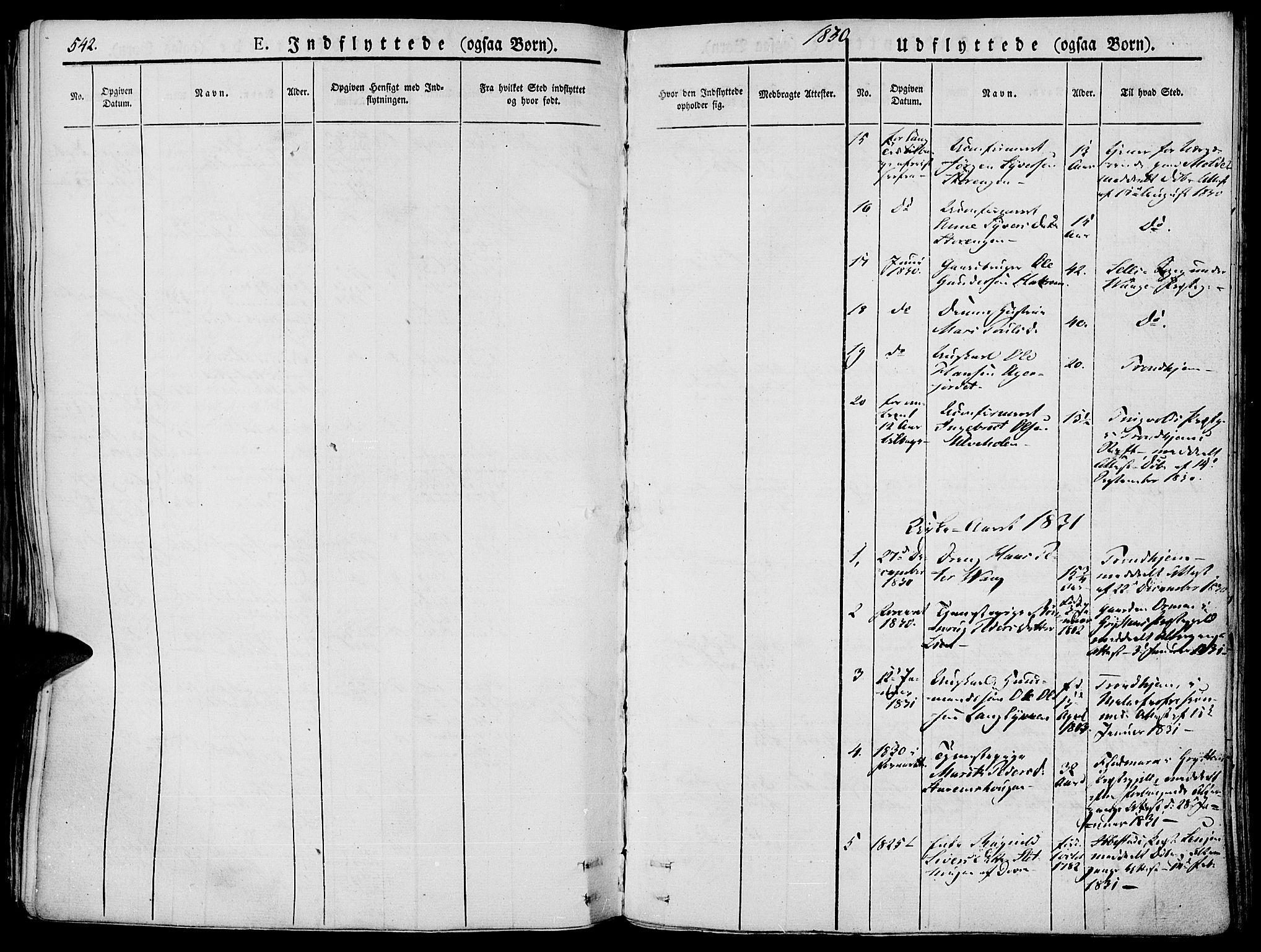 SAH, Lesja prestekontor, Ministerialbok nr. 5, 1830-1842, s. 542