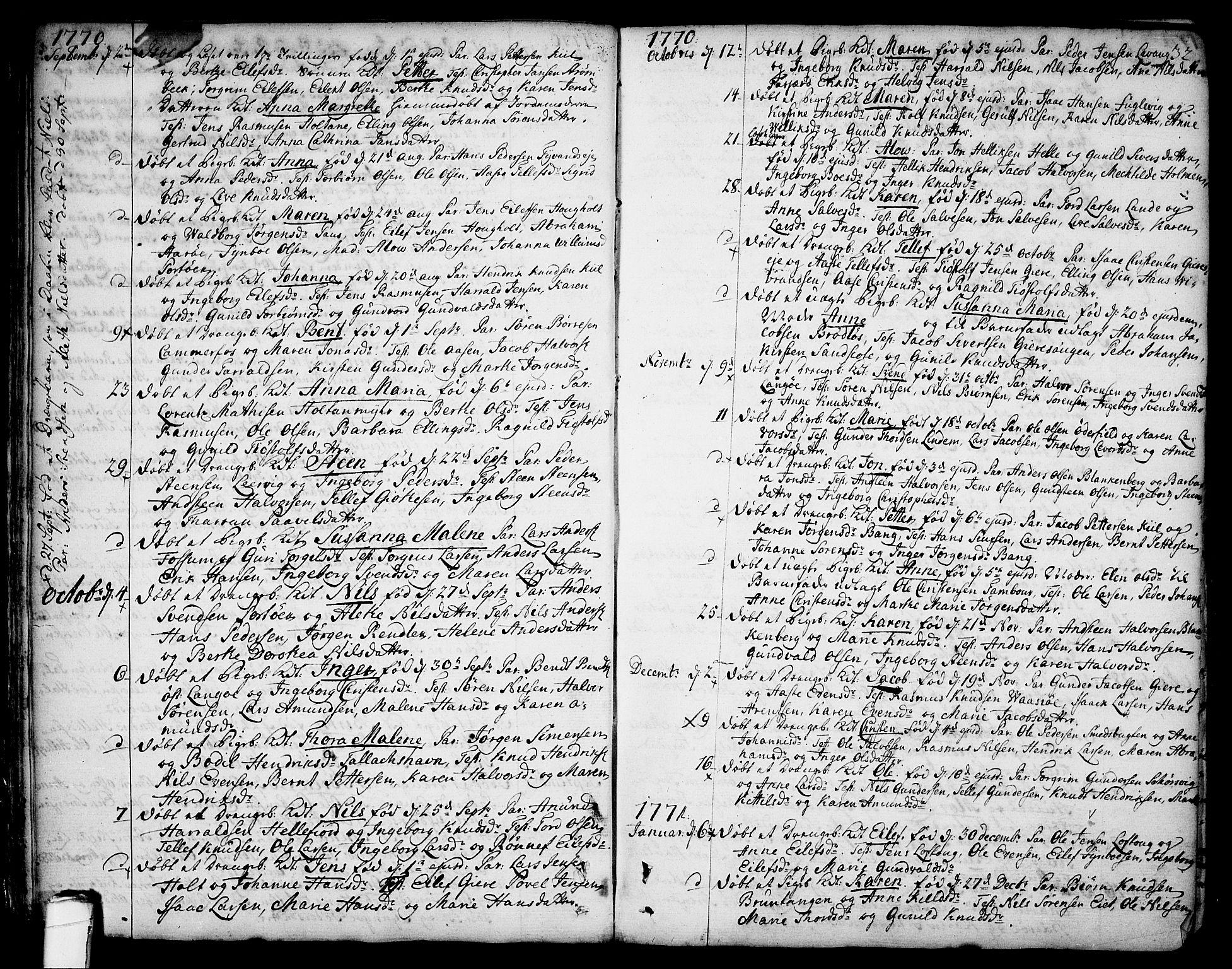 SAKO, Sannidal kirkebøker, F/Fa/L0002: Ministerialbok nr. 2, 1767-1802, s. 32
