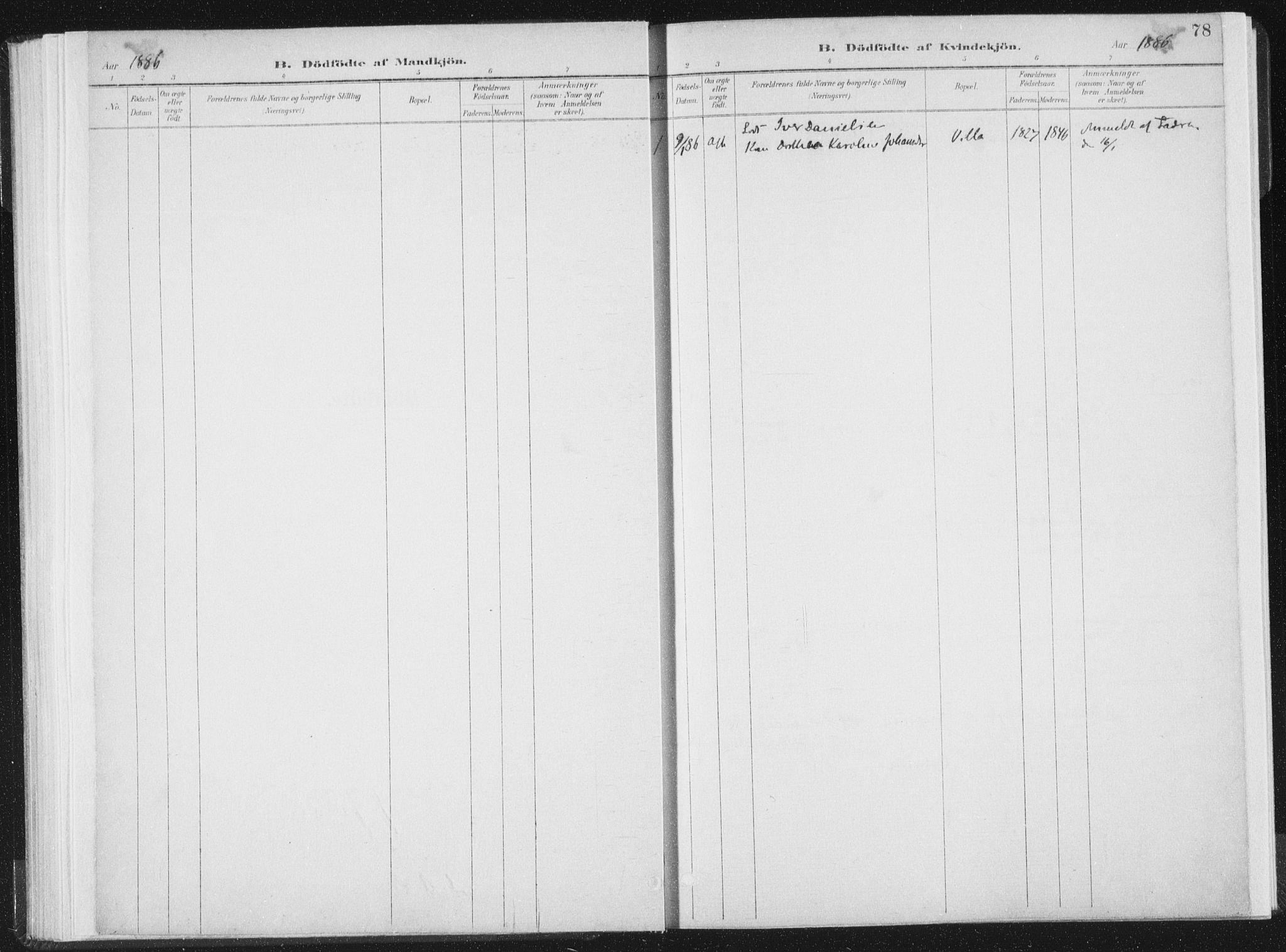 SAT, Ministerialprotokoller, klokkerbøker og fødselsregistre - Nord-Trøndelag, 771/L0597: Ministerialbok nr. 771A04, 1885-1910, s. 78