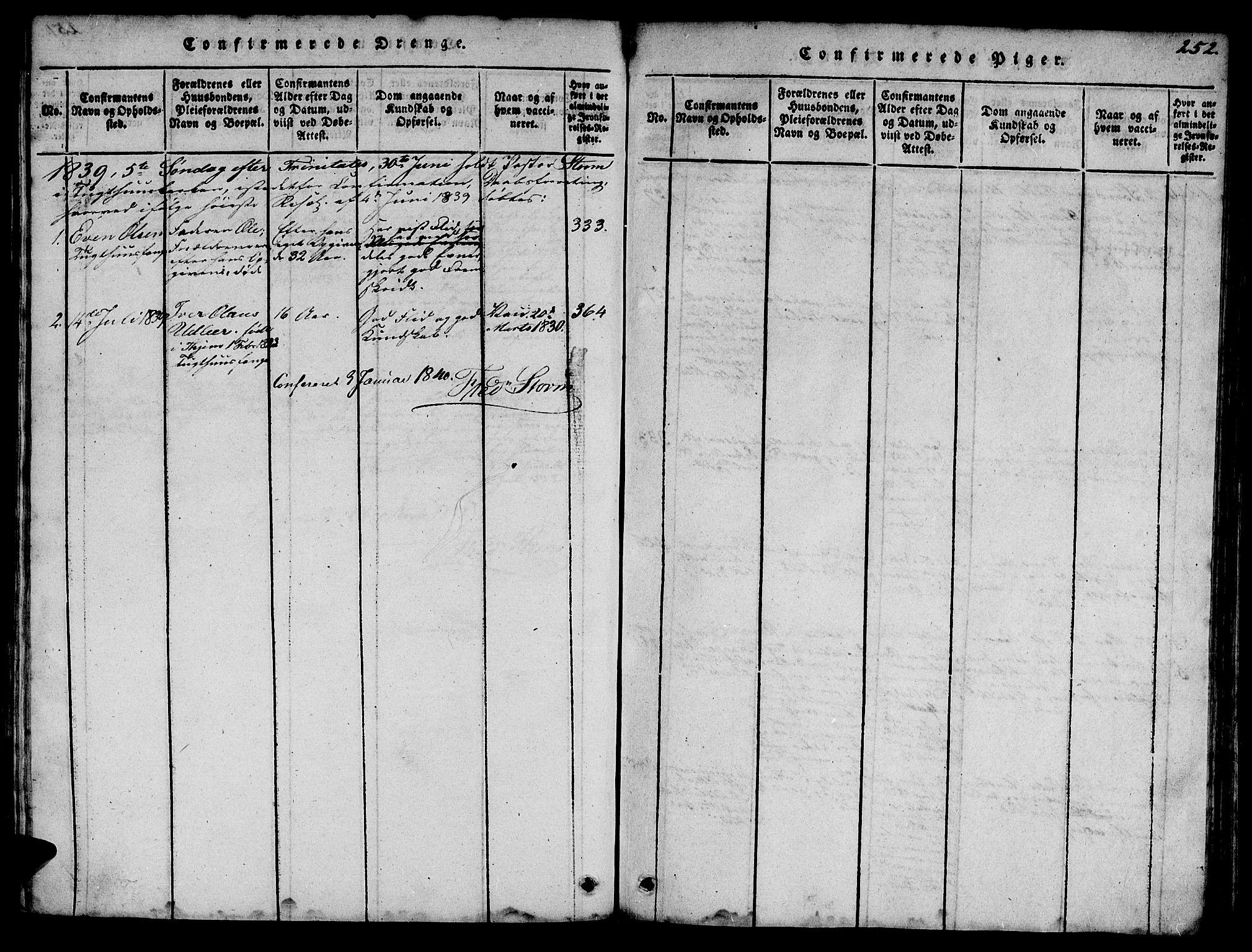 SAT, Ministerialprotokoller, klokkerbøker og fødselsregistre - Sør-Trøndelag, 623/L0478: Klokkerbok nr. 623C01, 1815-1873, s. 252