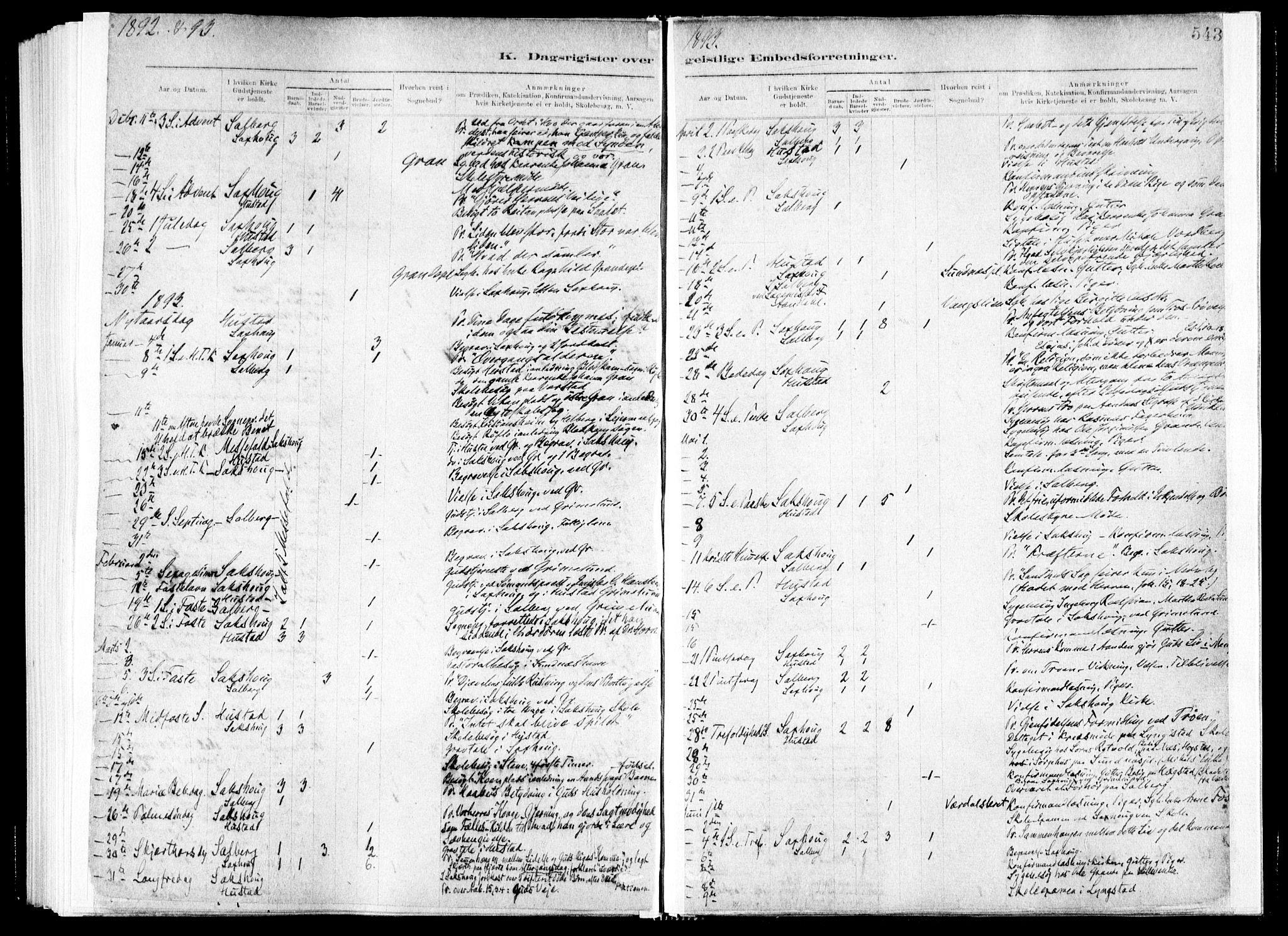 SAT, Ministerialprotokoller, klokkerbøker og fødselsregistre - Nord-Trøndelag, 730/L0285: Ministerialbok nr. 730A10, 1879-1914, s. 543
