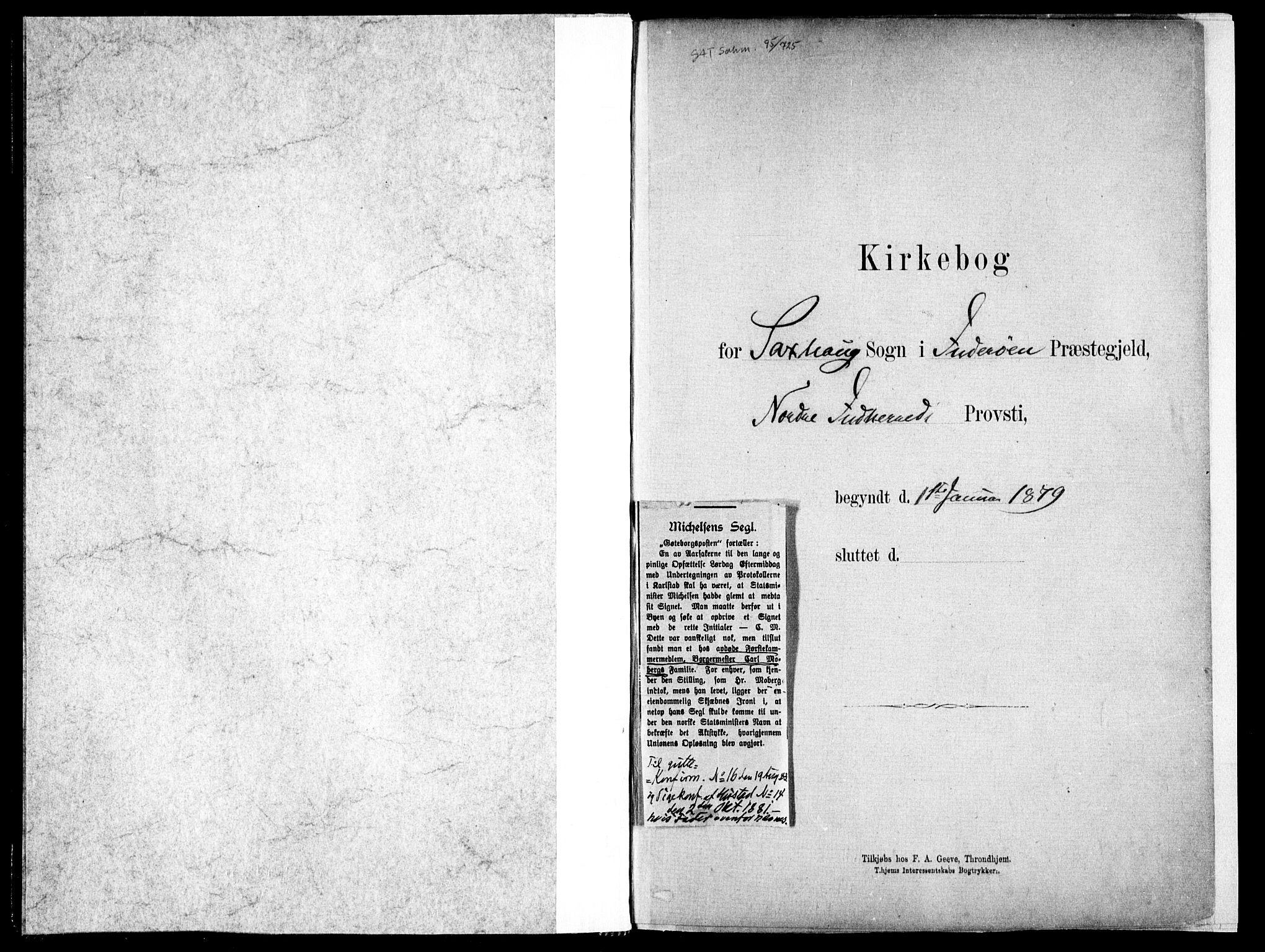 SAT, Ministerialprotokoller, klokkerbøker og fødselsregistre - Nord-Trøndelag, 730/L0285: Ministerialbok nr. 730A10, 1879-1914